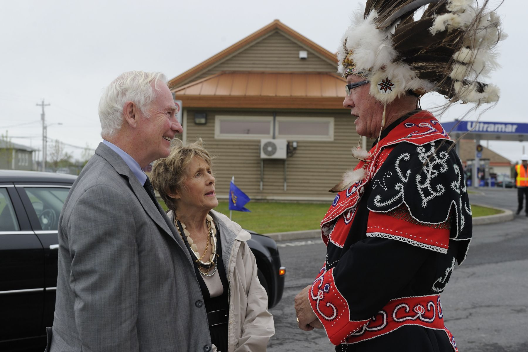 Upon their arrival in the Community of Membertou, Their Excellencies were greeted by Chief Terry Paul.