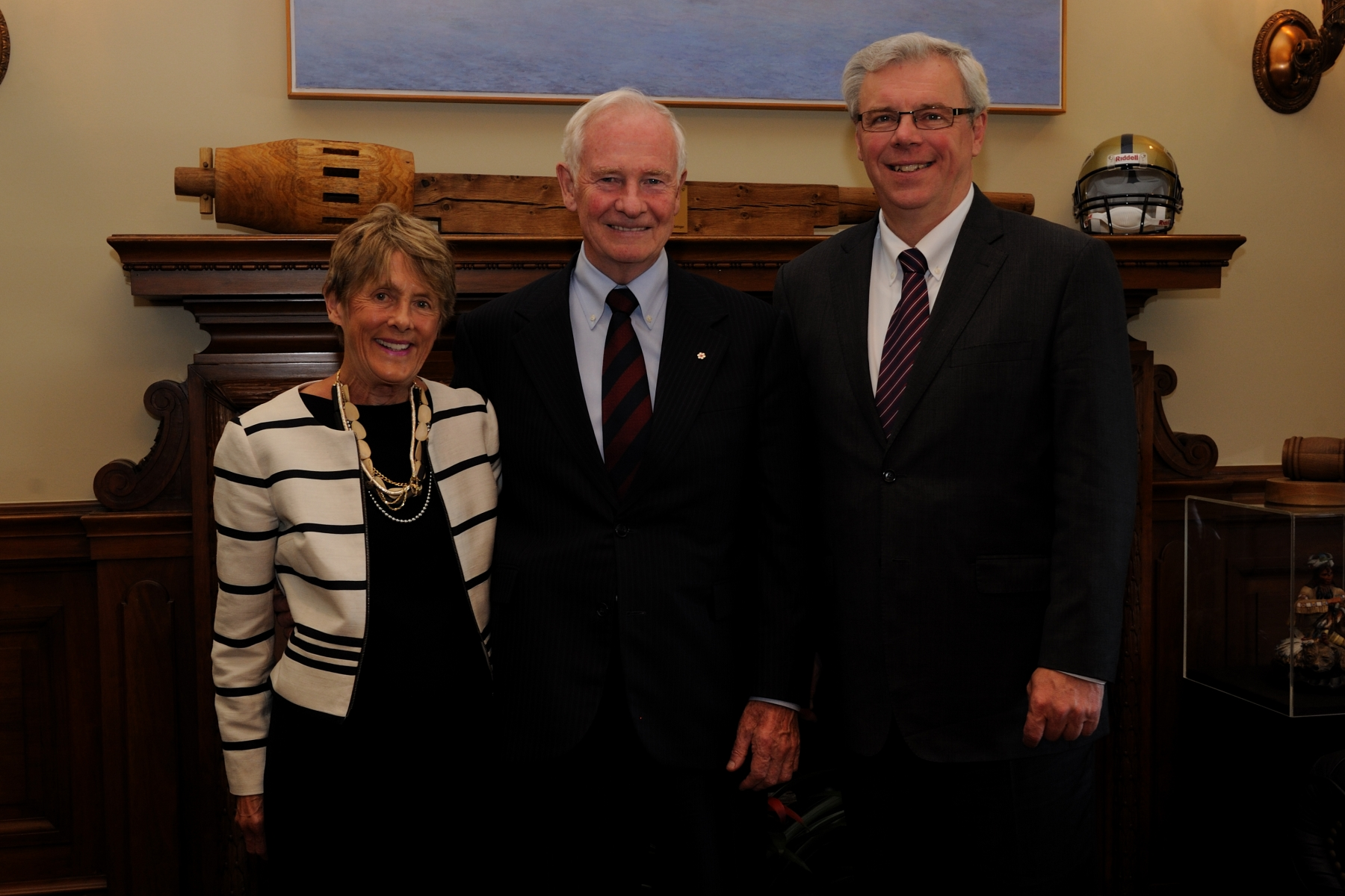 Their Excellencies with the Honourable Greg Selinger, Premier of Manitoba.