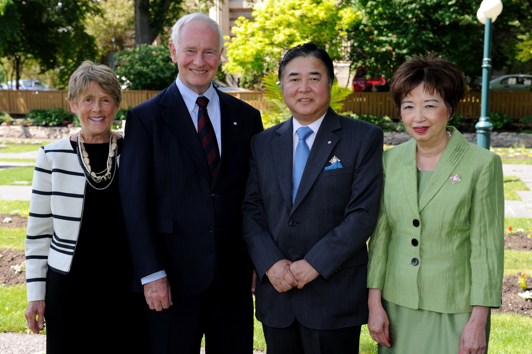 Their Excellencies also met with the Their Honours the Honourable Philip Lee, Lieutenant Governor of Manitoba, and his spouse, Mrs. Anita Lee.
