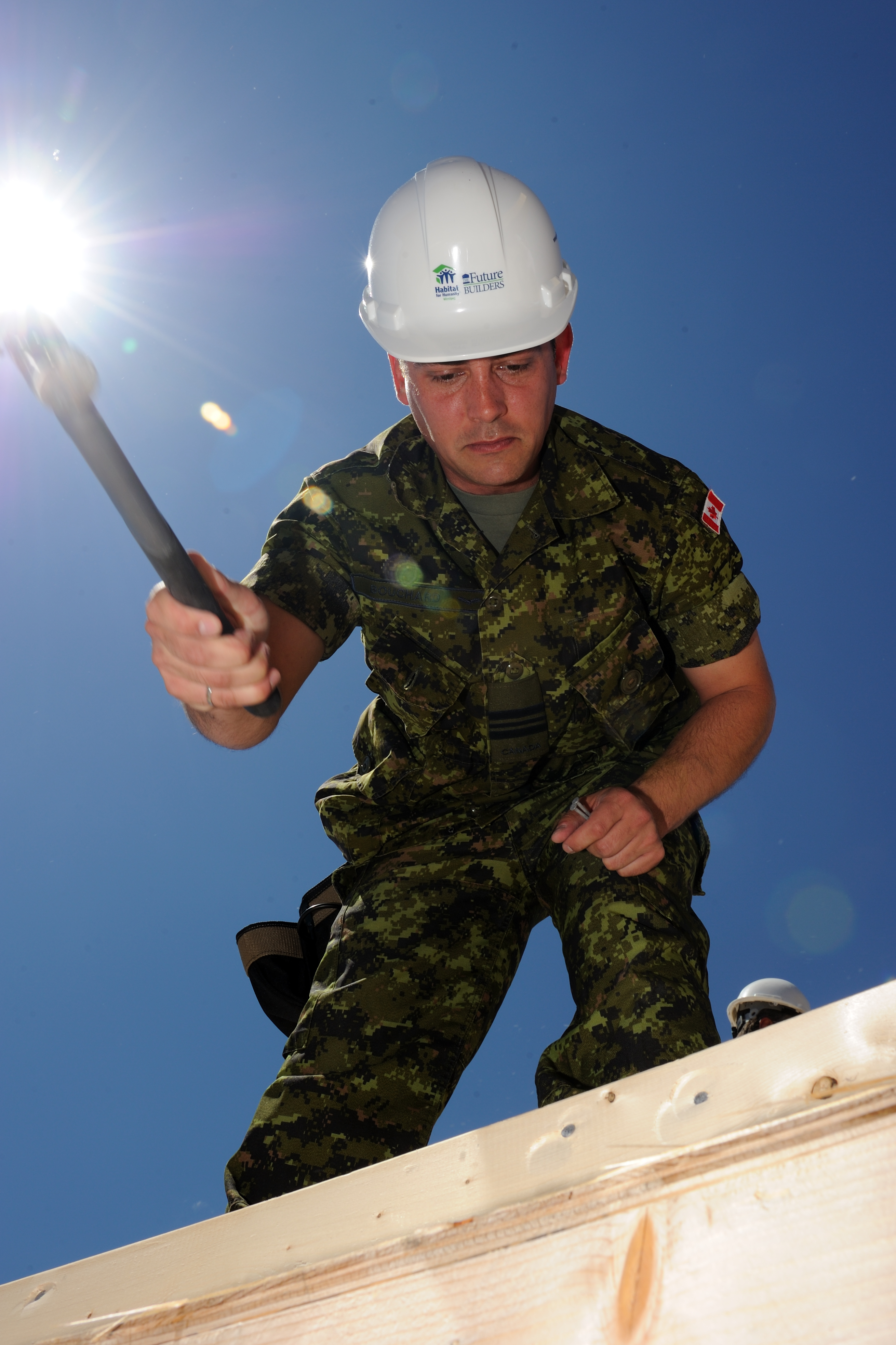Major Benoit Bouchard, Aide-de-Camp to the Governor General, also took part in the construction.