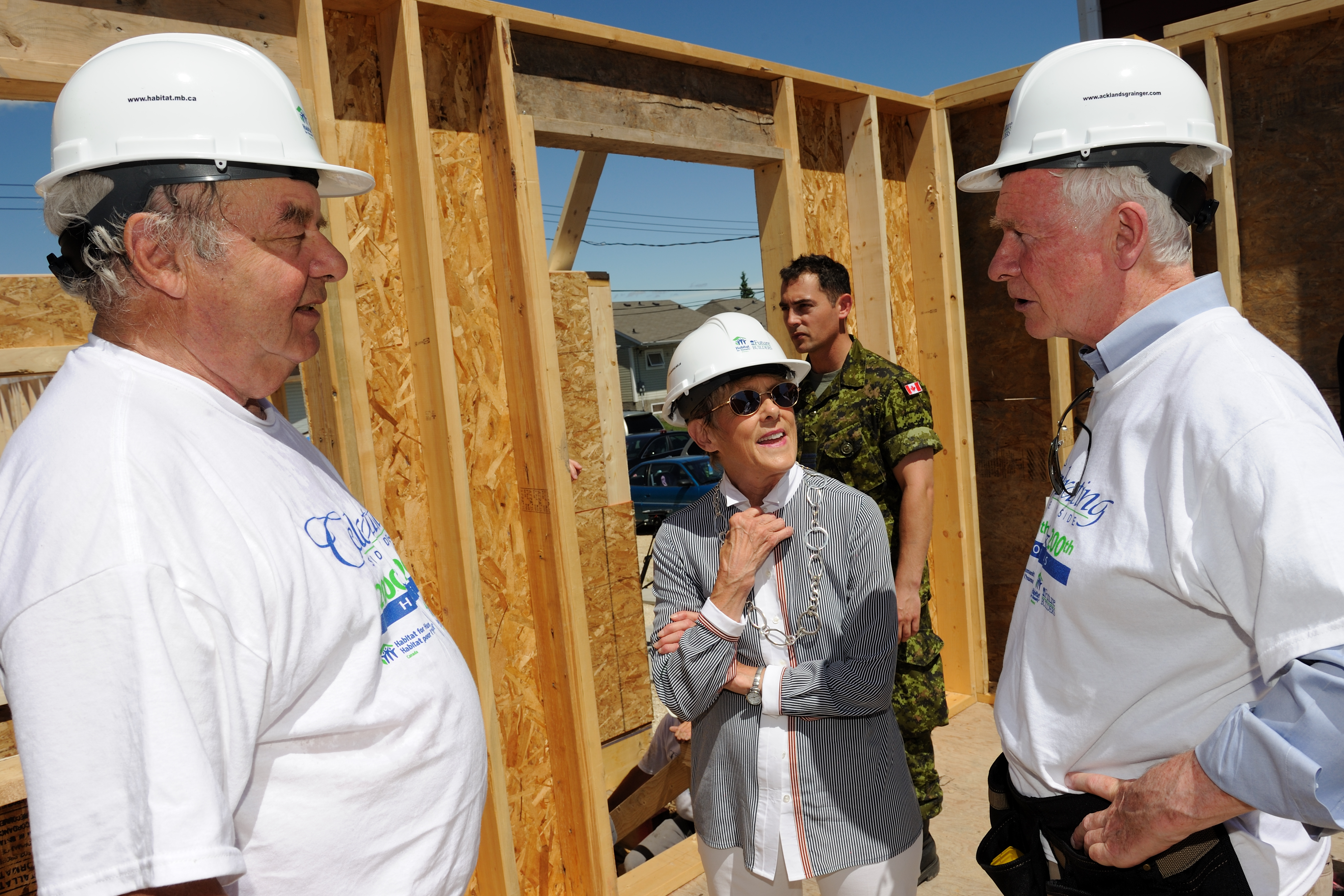 In 2011, His Excellency the Right Honourable David Johnston, Governor General of Canada, became patron of Habitat for Humanity Canada. The Right Honourable Edward Schreyer, former governor general of Canada, has been serving as member of Habitat for Humanity's International Board of Directors since 2009.