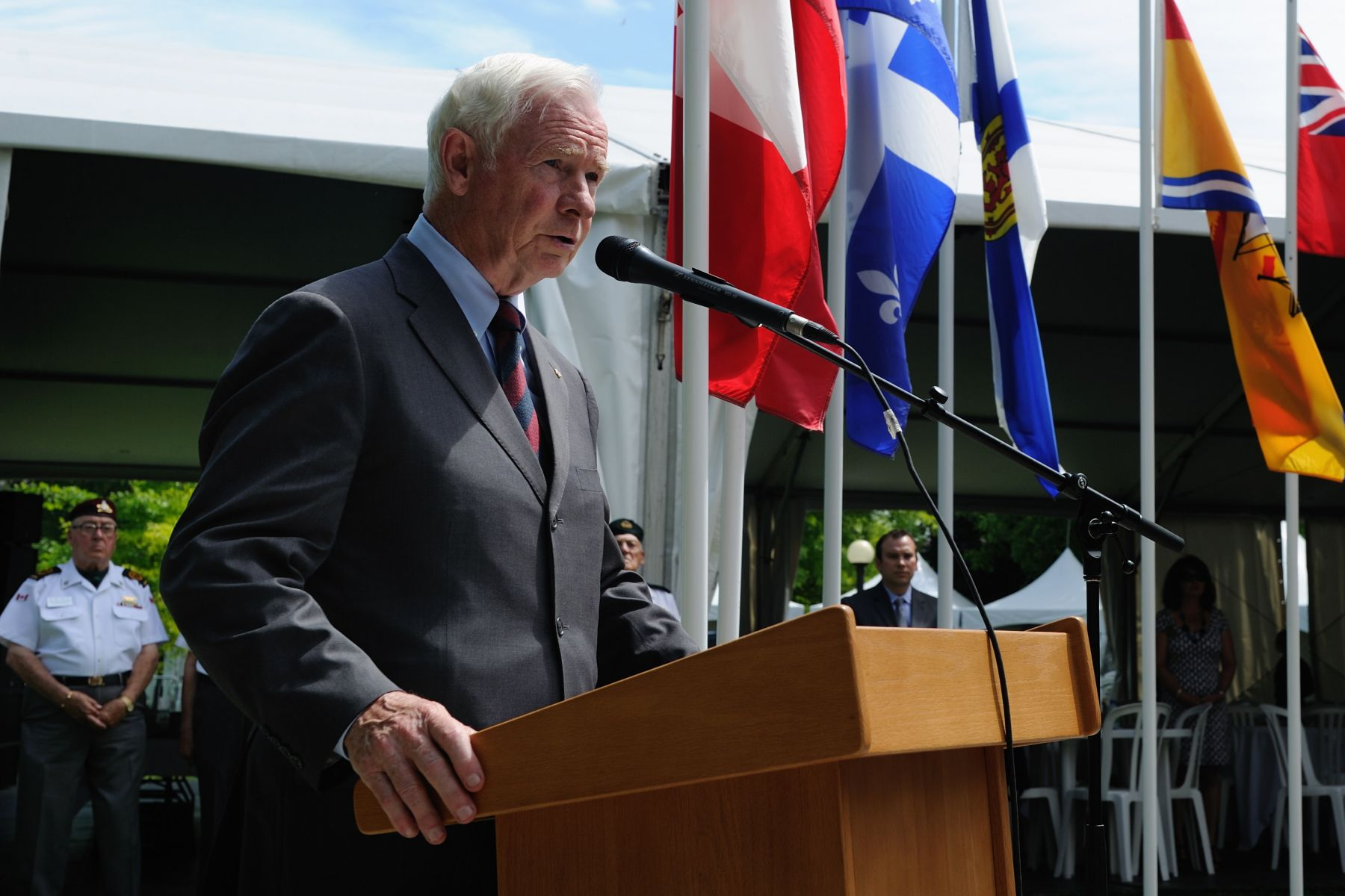 """Since Canada's earliest days, the First Nations, Métis and Inuit peoples have given much to forge and sustain peace within our own borders and around the world,"" said His Excellency. ""They have overcome cultural challenges to help shape Canada into what it has become today. And they have served and sacrificed with honour, distinction, courage and resolve in ways that conveyed time-honoured traditions and deeply-held beliefs."""