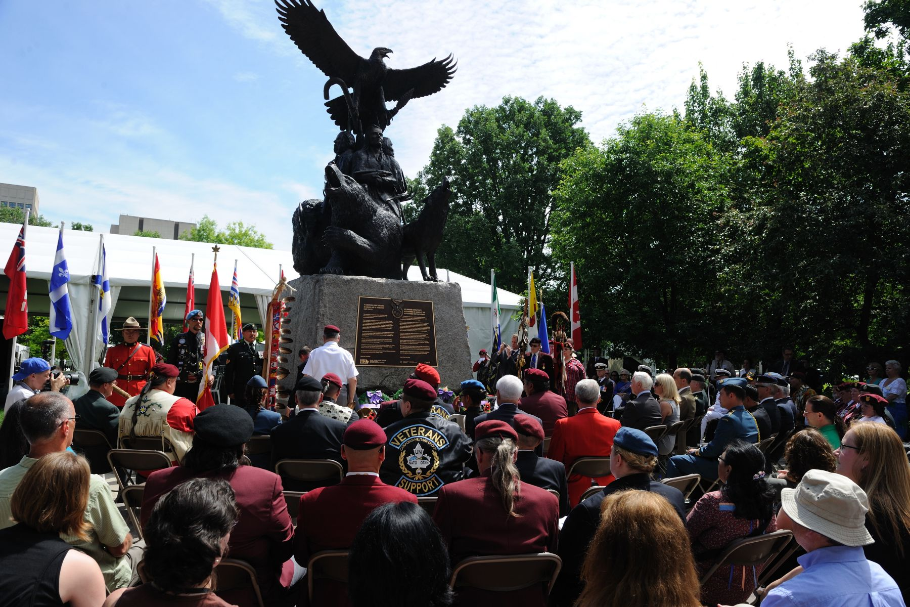 Located in Ottawa's Confederation Park, the National Aboriginal Veterans Monument was unveiled 10 years ago, on June 21, 2001, by the Right Honourable Adrienne Clarkson.