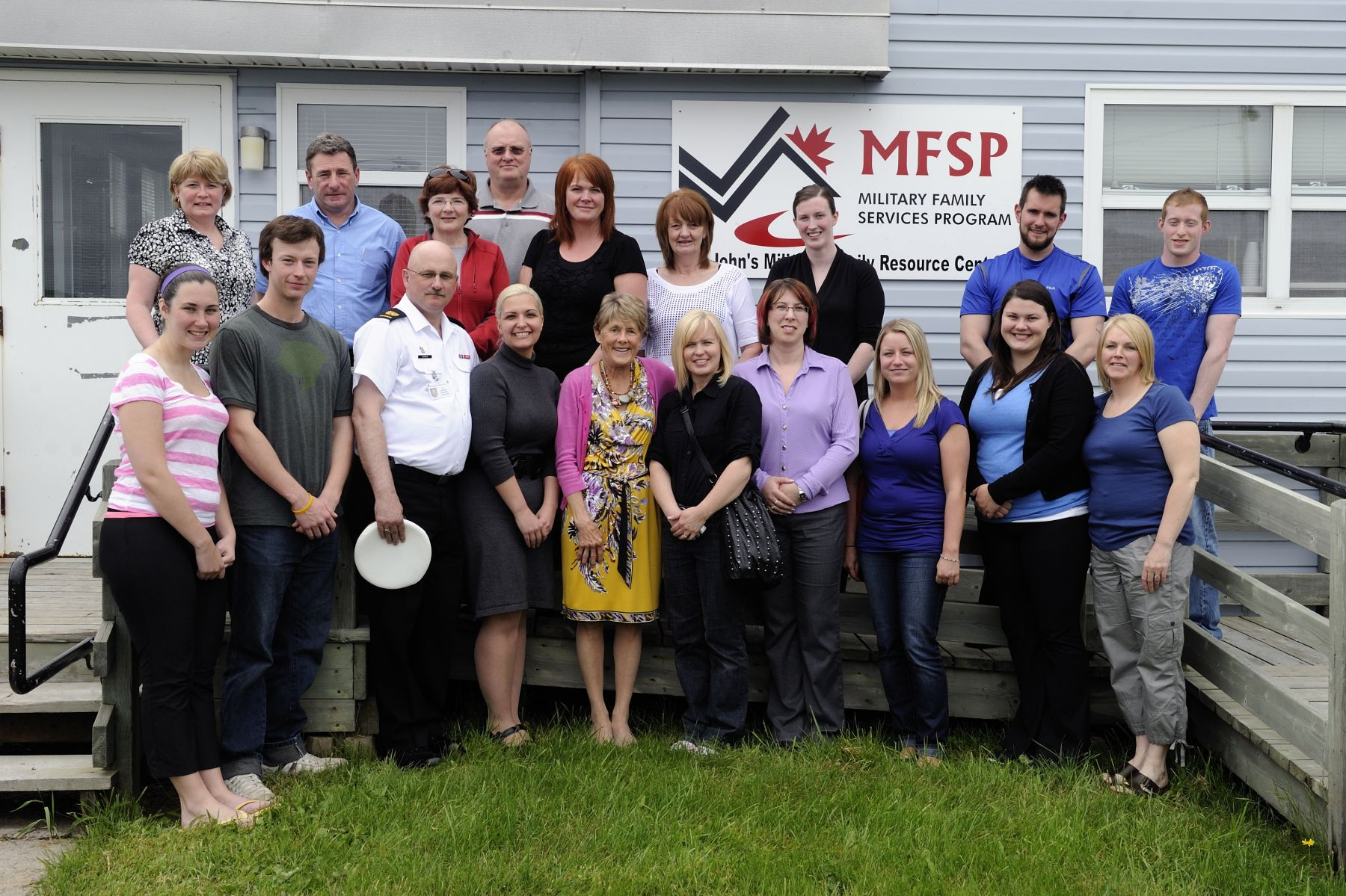 Official photo of Her Excellency with staff from St. John's Military Family Resource Centre.