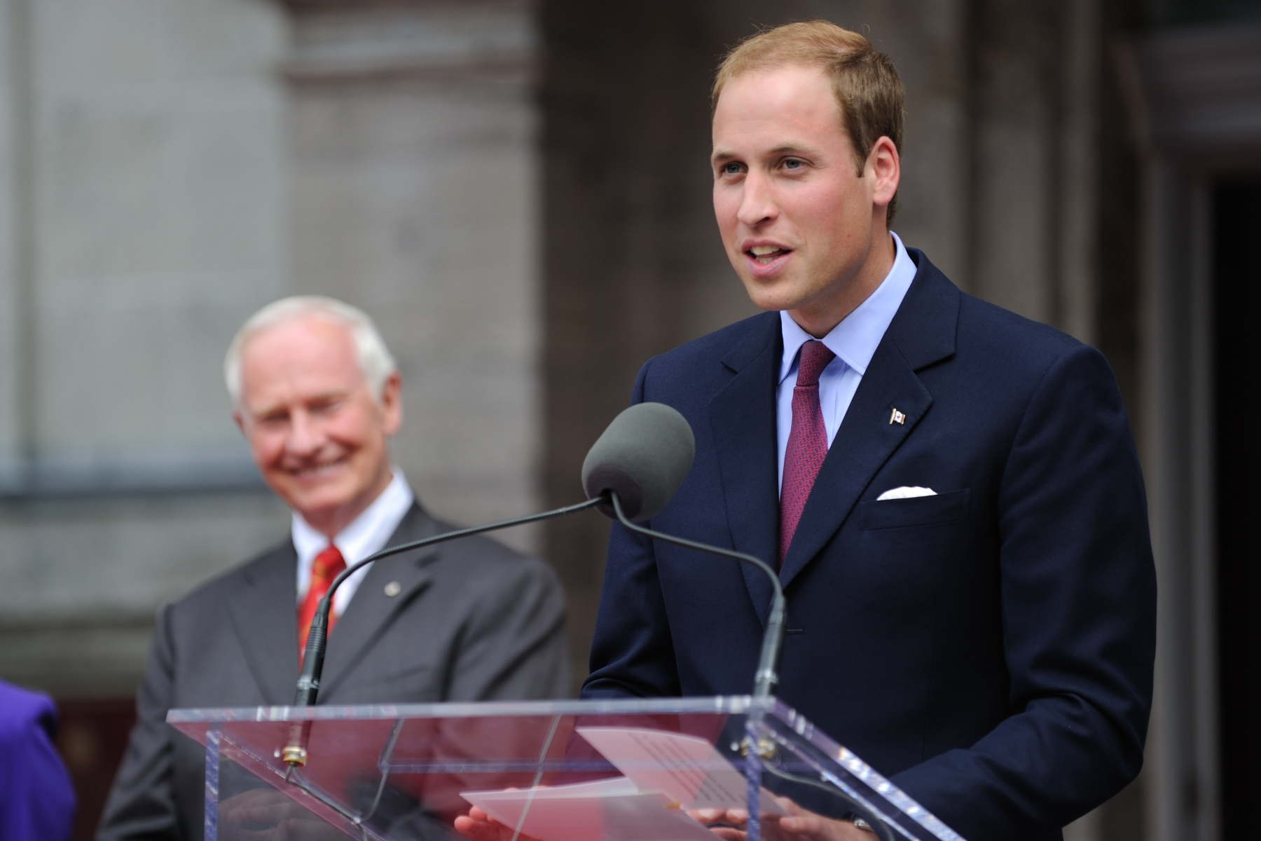 "His Royal Highness also delivered remarks: ""Catherine and I are so delighted to be here in Canada.  Instilled in us by our parents and grandparents, who love this country, we have been looking forward to this moment for a very long time - and before we were married, we had a longing to come here together."""