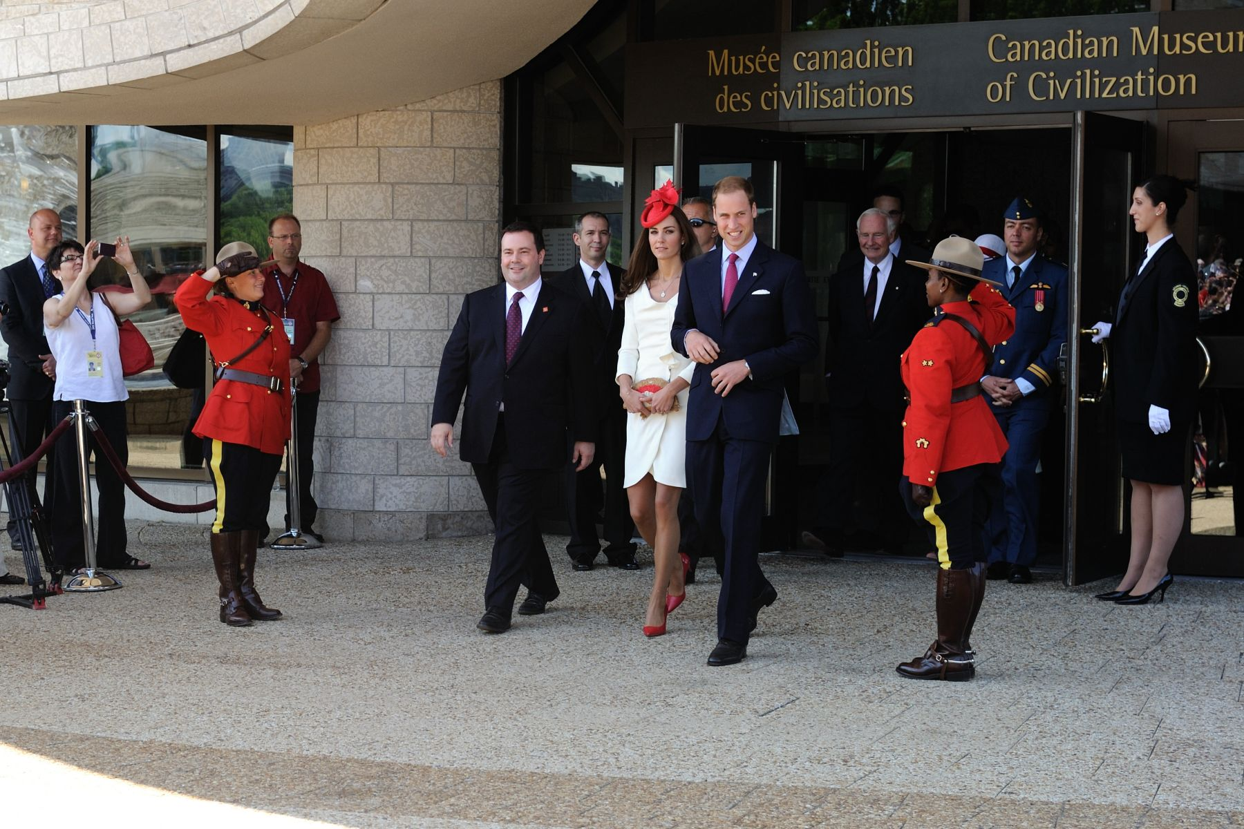 Their Royal Highnesses, accompanied by Their Excellencies, then headed to Parliament Hill to attend the Canada Day Noon Show.