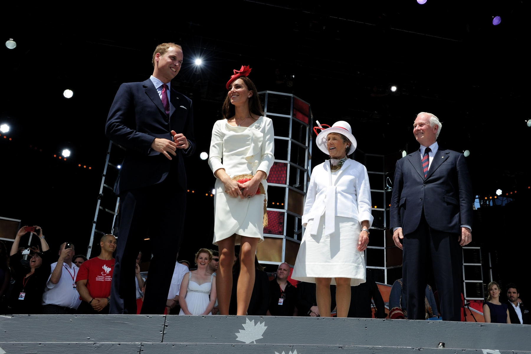 Along with thousands of Canadians and visitors, Their Excellencies were joined by Their Royal Highnesses to attend the Canada Day Noon Show.