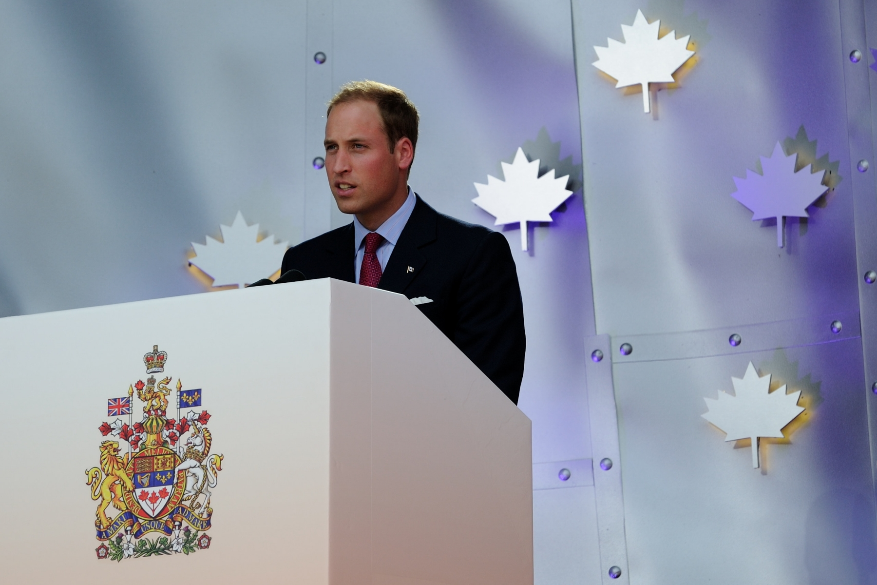 On this special occasion, His Royal Highness addressed Canadians.