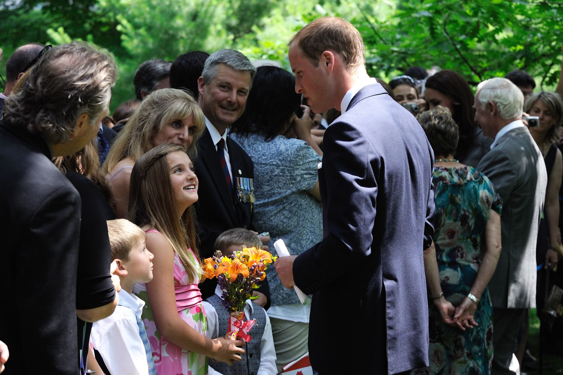 His Royal Highness stopped to speak with guests who attended the ceremony.