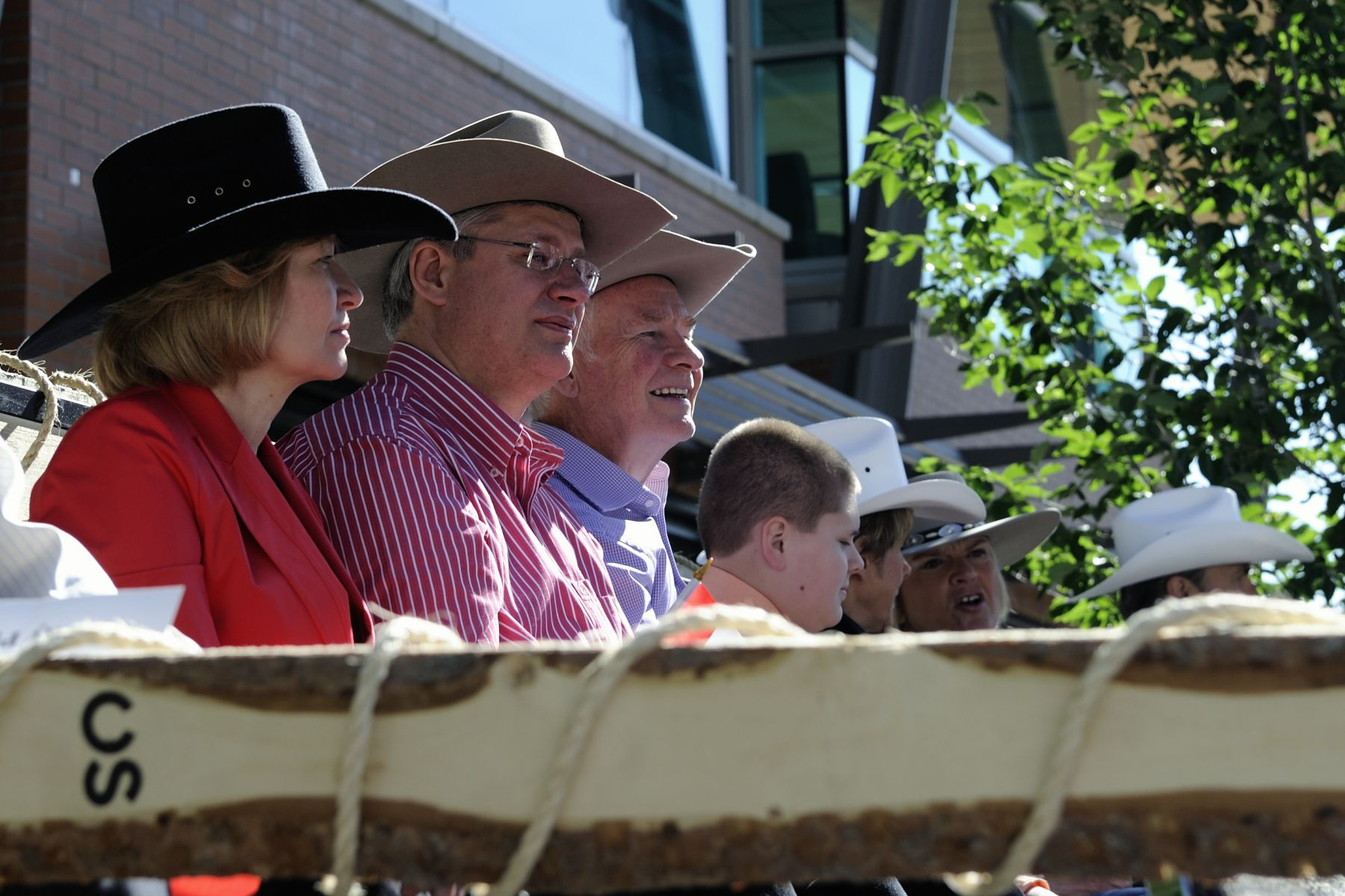The Right Honourable Stephen Harper, Prime Minister of Canada, and Mrs. Laureen Harper also attended the parade.