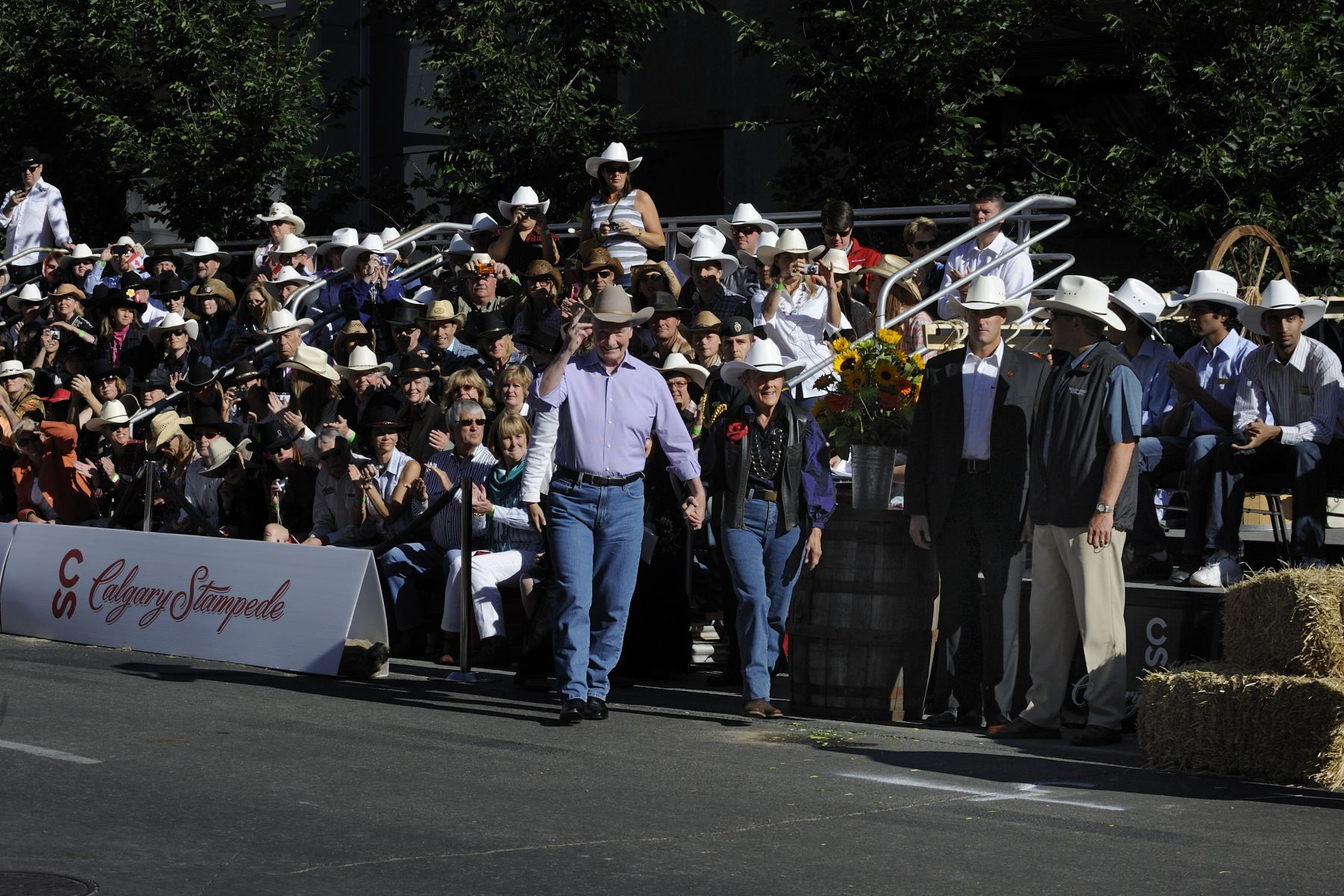 Their Excellencies the Right Honourable David Johnston, Governor General of Canada, and Mrs. Sharon Johnston attended the opening parade of the Calgary Stampede.