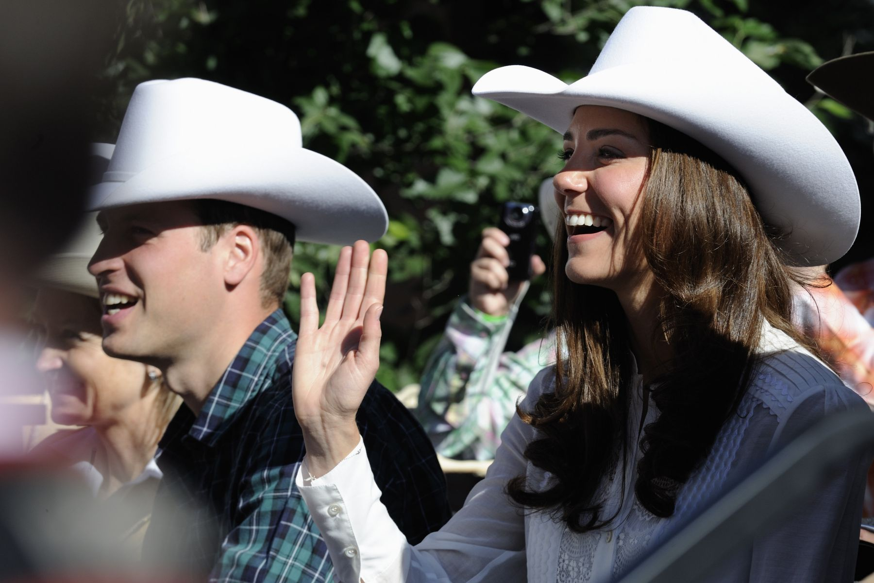 Their Royal Highnesses truly enjoyed the parade.