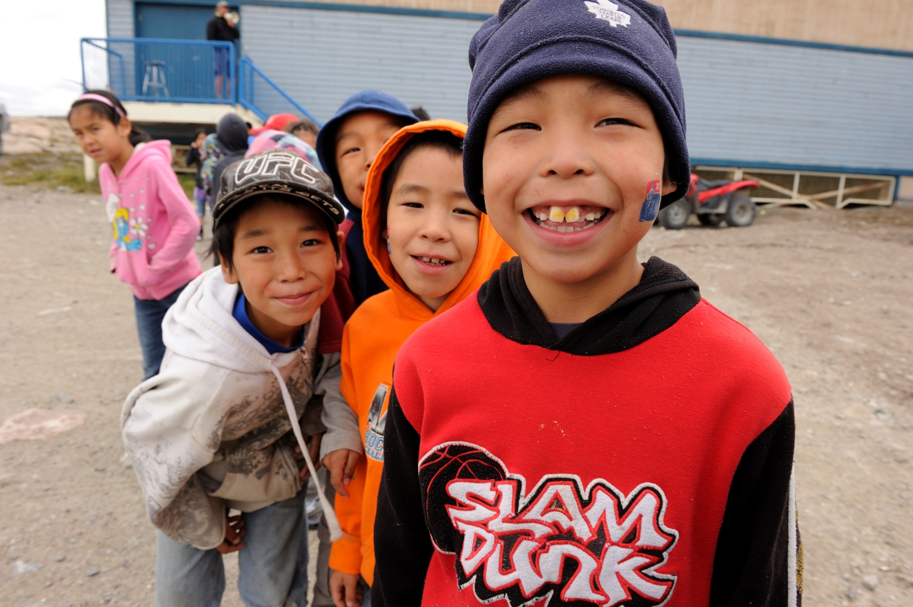 Young students from the Tusarvik School were excited to start the race.