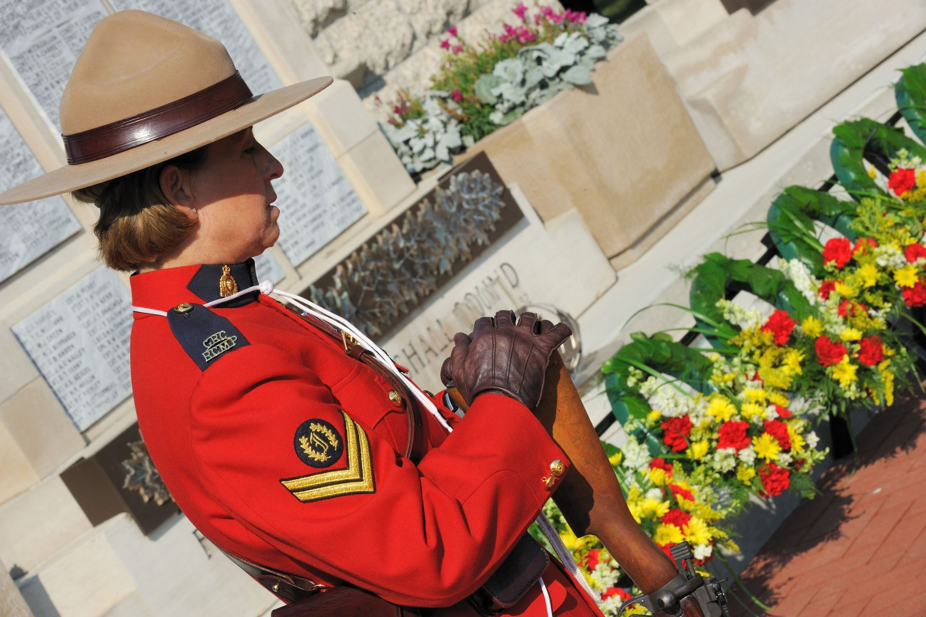 "The ceremony was held on the same day of the 10th anniversary of 9/11. In his address to RCMP members, His Excellency said: ""It is fitting that we have gathered together to mourn these Canadians as we join with others around the world to mark the 10th anniversary of the terrible attacks of September 11, 2001. On that tragic day, police, other emergency services personnel and ordinary people sacrificed themselves to save the lives of others. Members of the RCMP were ready to lend a hand to their brothers and sisters in uniform, as well as to those US citizens who were stranded on this side of the border."""