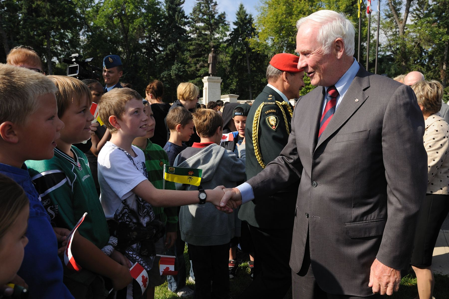 "Youth were also on site to listen to His Excellency's address: ""Sharon and I have been delighted to meet veterans, but we have also been humbled to meet military families, including those who have lost loved ones. We cannot imagine their grief, but we can share in the pride that they feel for one who served Canada with distinction."""