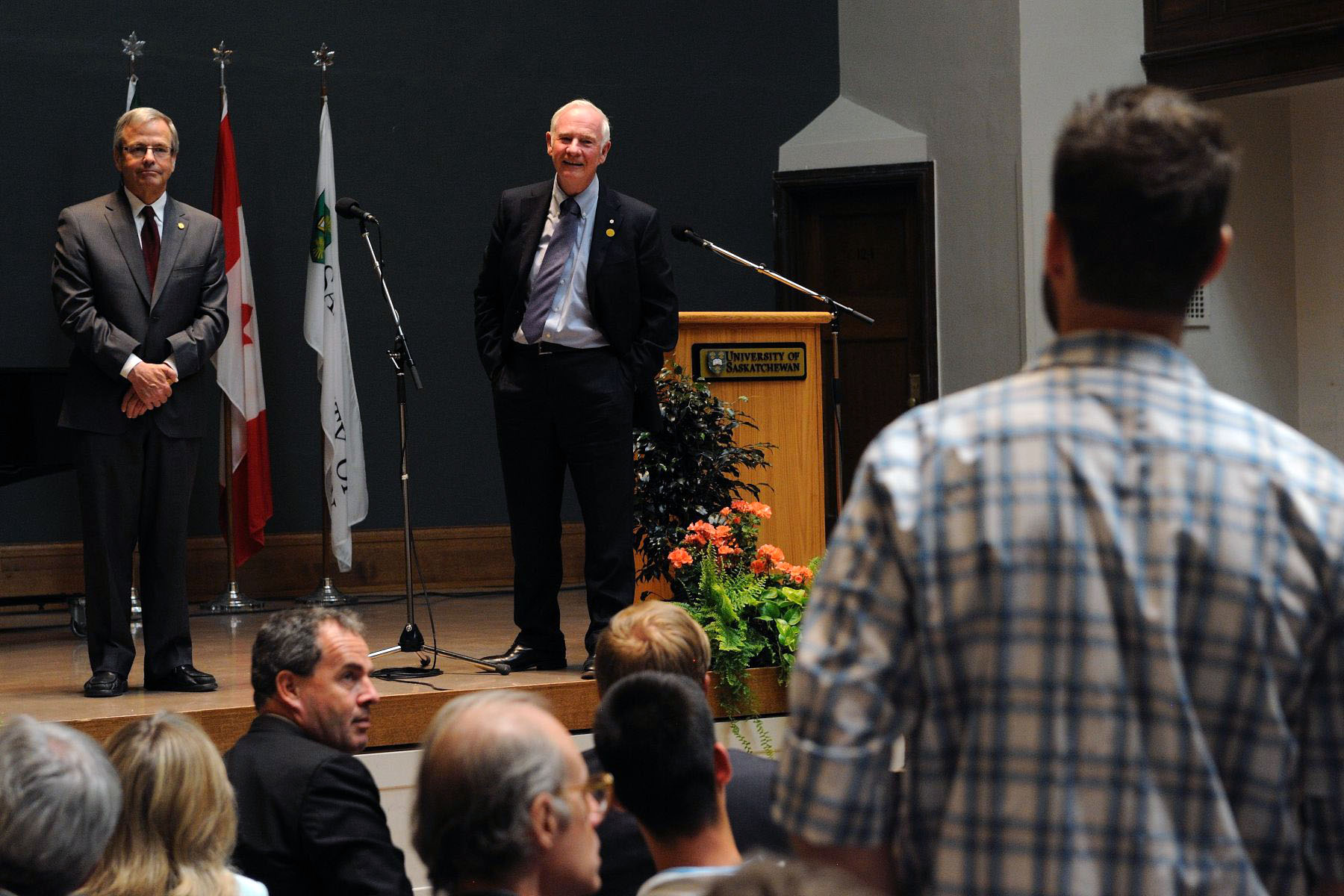 Following his speech, the Governor General answered questions from students.