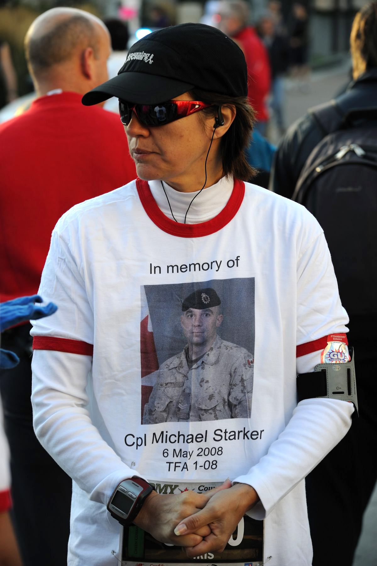 Some participants were running in memory of a significant other who lost his life in Afghanistan.