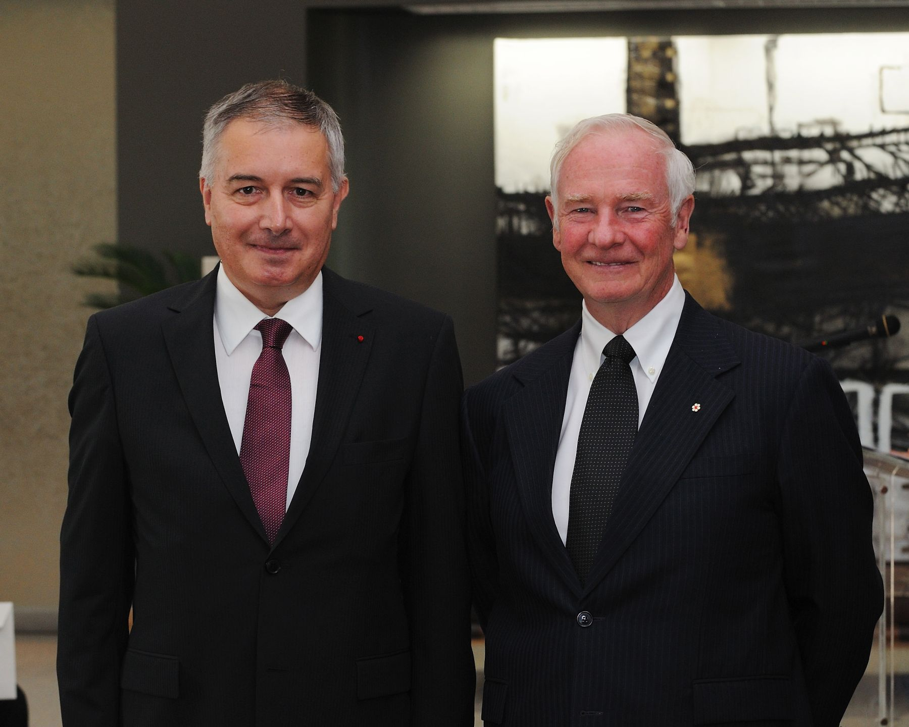 The Governor General received the credentials of His Excellency Philippe Zeller,