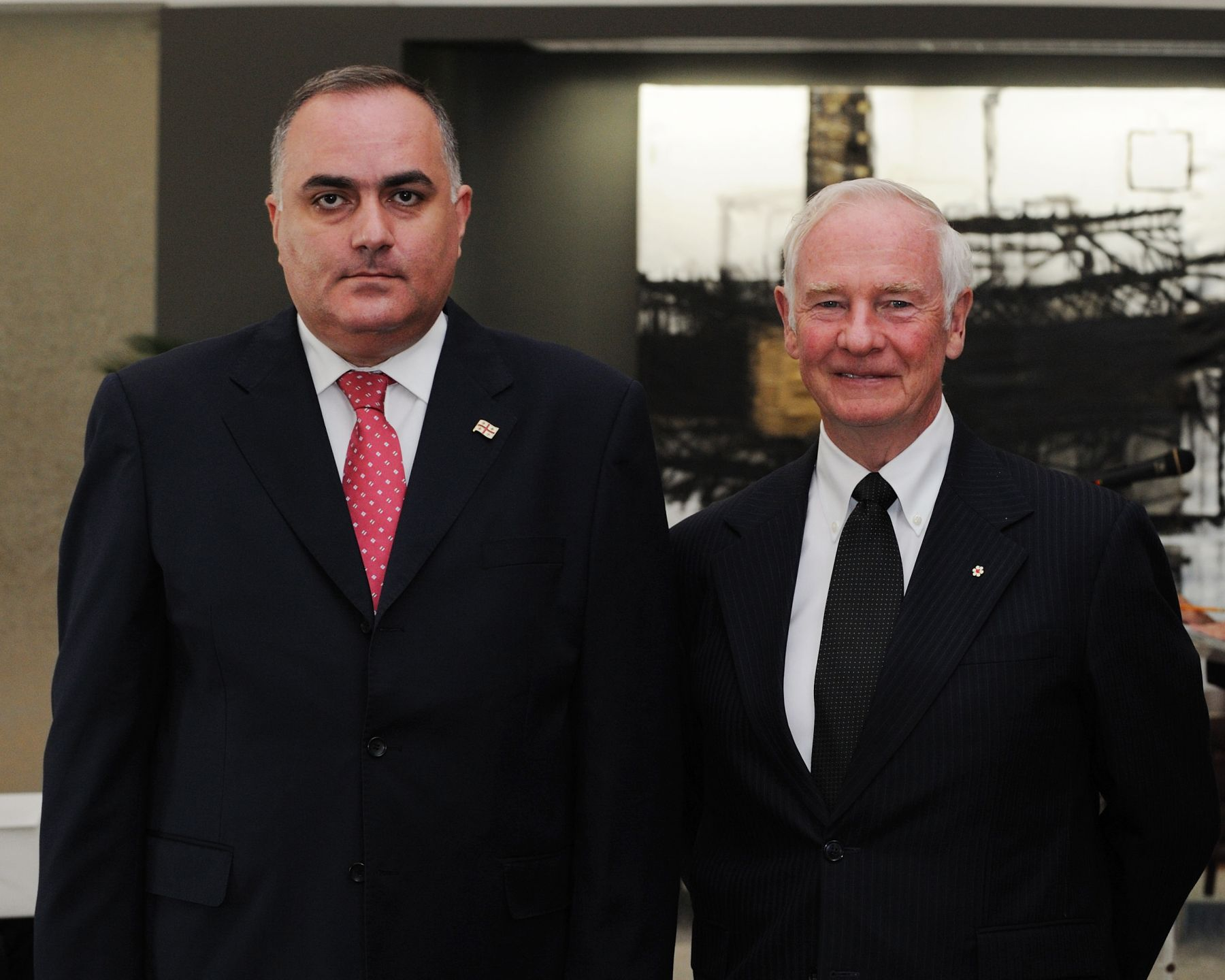 The Governor General received the credentials of His Excellency Levan Metreveli