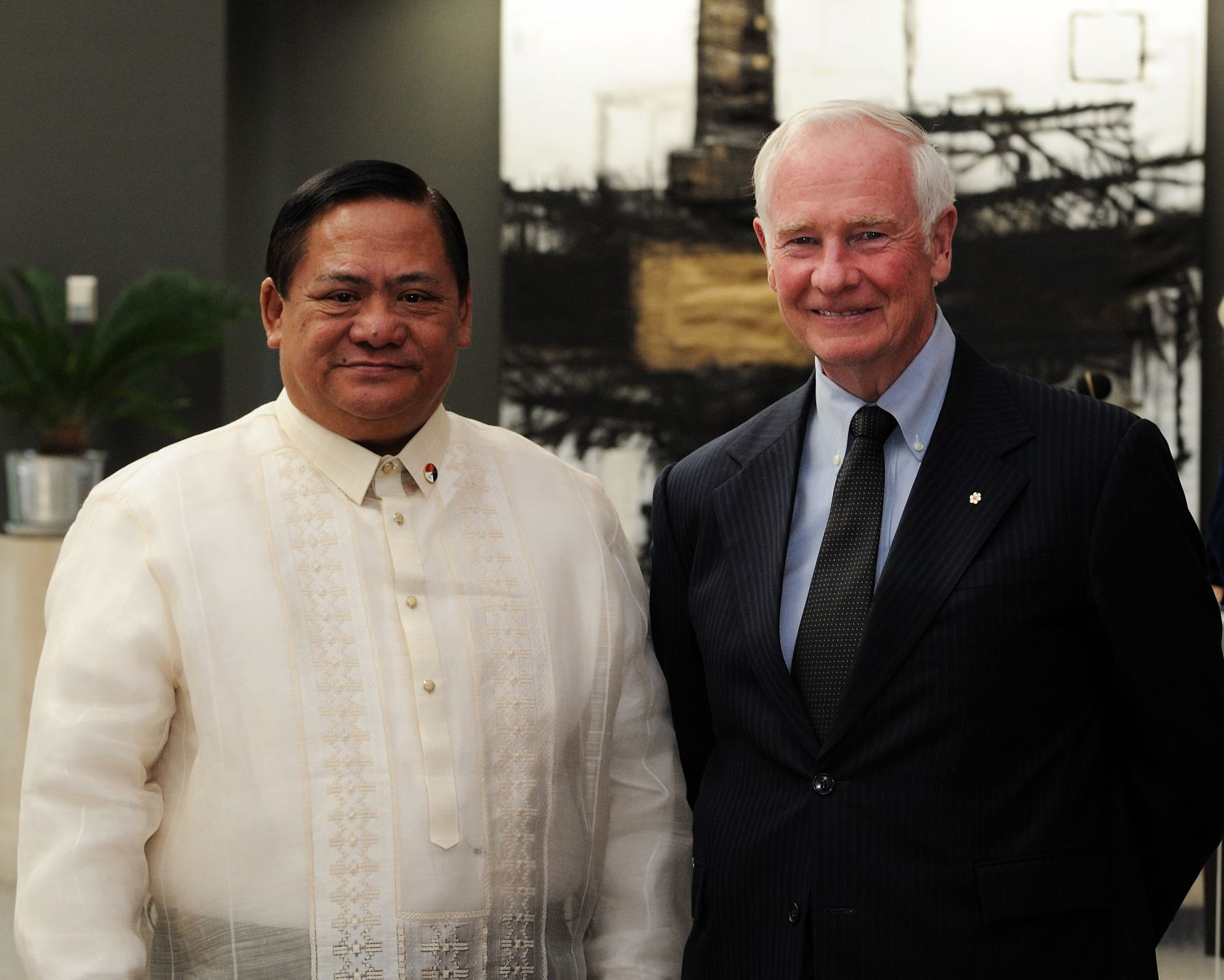 The Governor General received the credentials of His Excellency Leslie B. Gatan,
