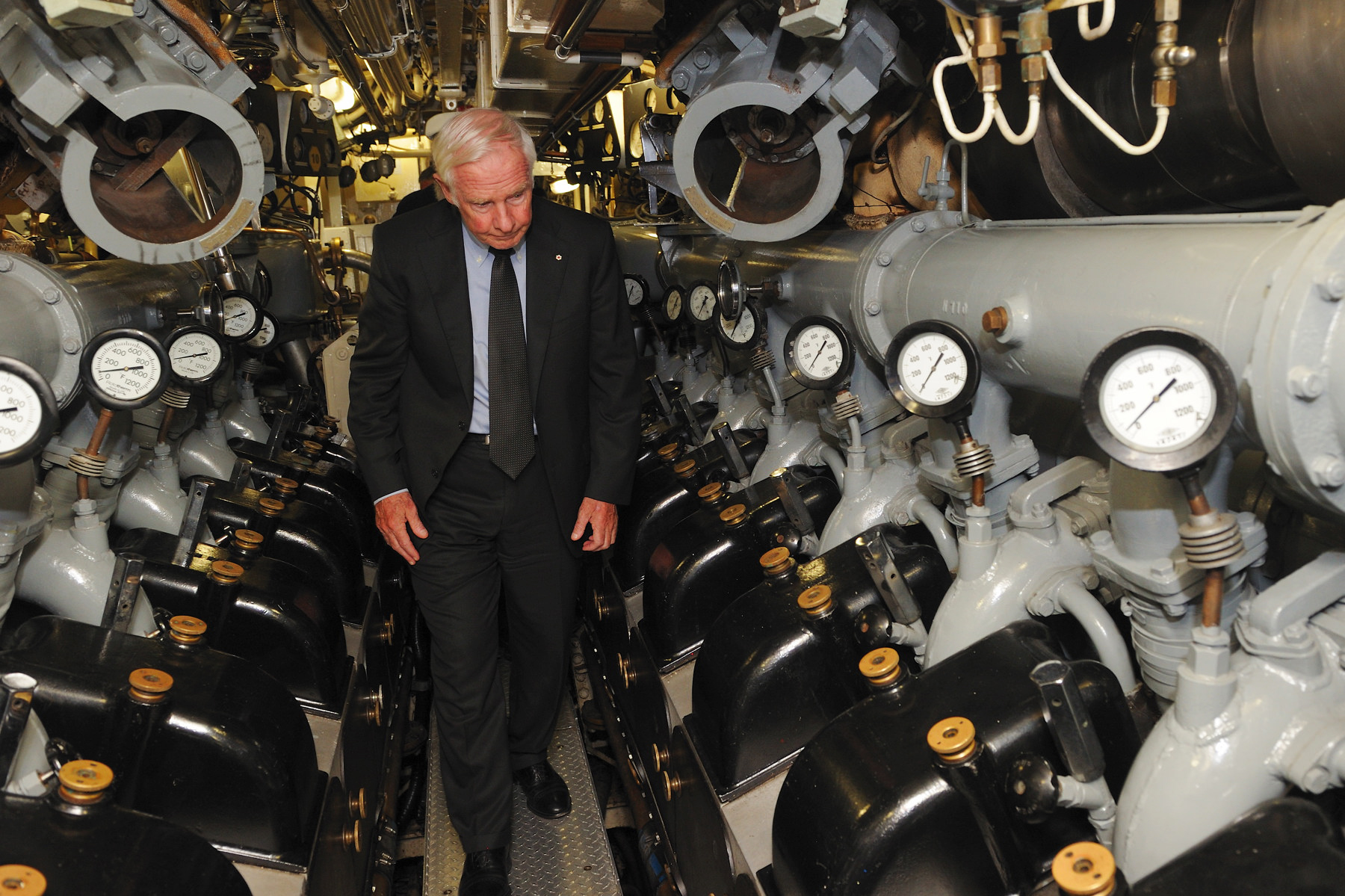 The Governor General took part in a tour of the interior of the impressive Onondaga.