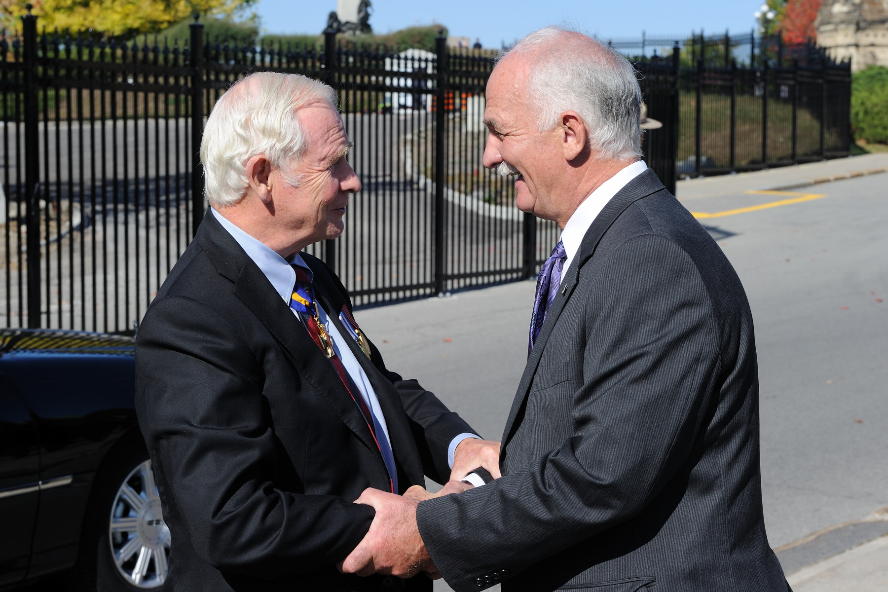 The Governor General was greeted by the Honourable Vic Toews, Minister of Public Safety.