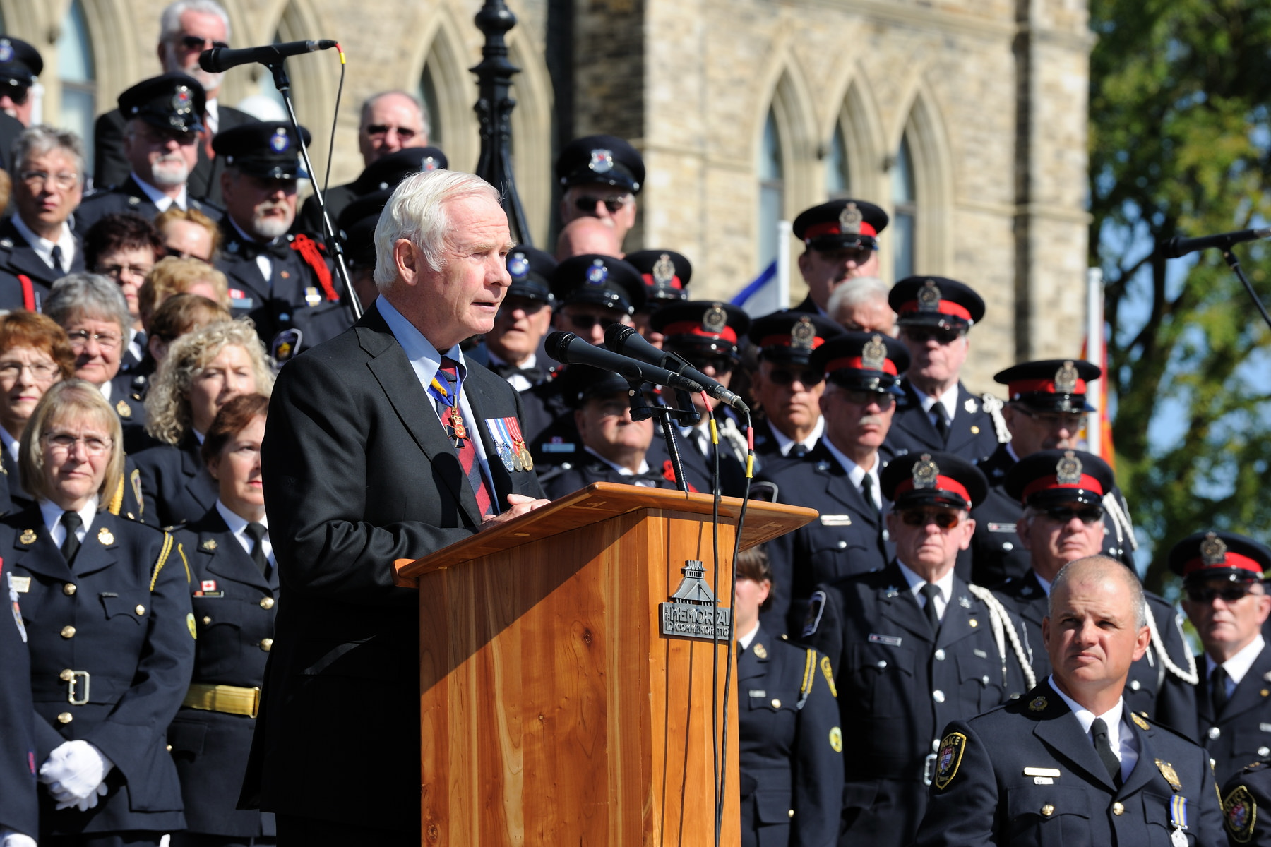 "During the annual memorial service, the Governor General offered opening remarks: ""We must never forget the vital role that you play in our communities every day. And those whose lives you have touched directly will forever hold in their hearts the memory of how you answered the call of duty."""