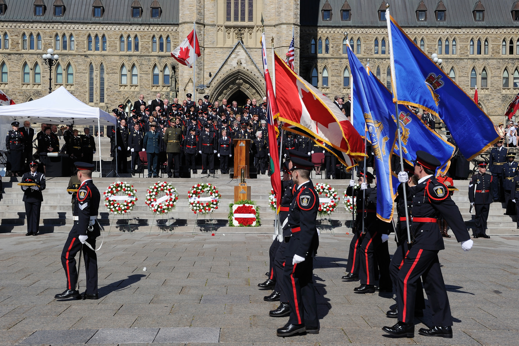 The annual Canadian Police and Peace Officers' Memorial Service takes place every year, on Parliament Hill.