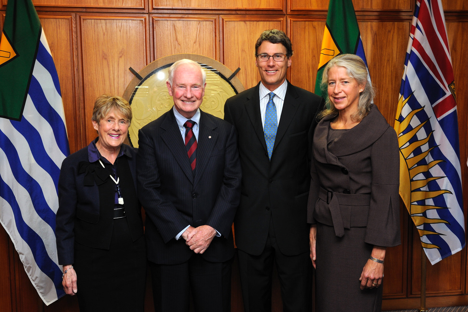 Their Excellencies met with His Worship Gregor Robertson, Mayor of Vancouver, and his wife, Mrs. Amy Robertson.