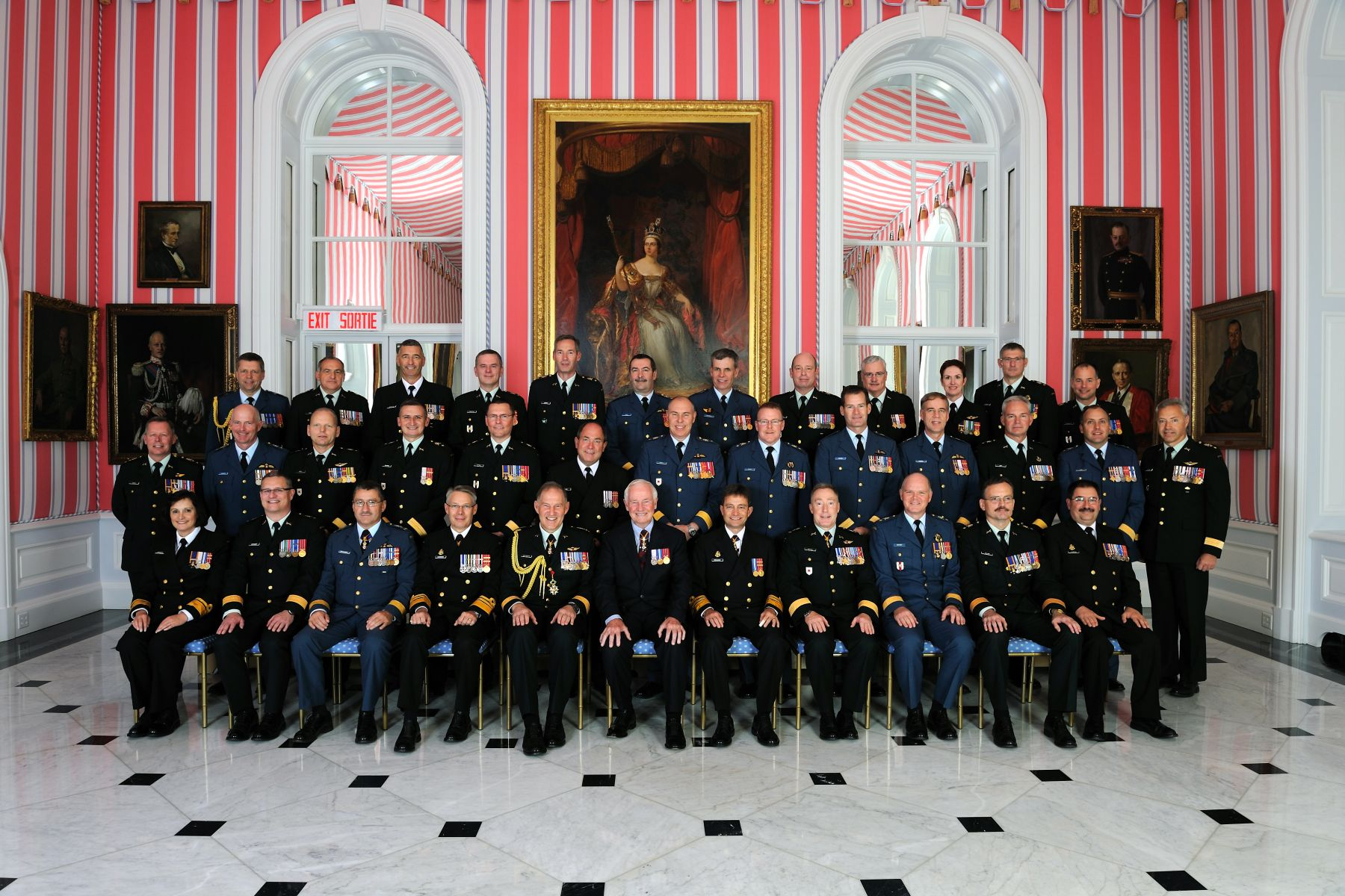 Twenty-seven Canadian Forces members received their scrolls from the Governor General and the Chief of the Defense Staff.