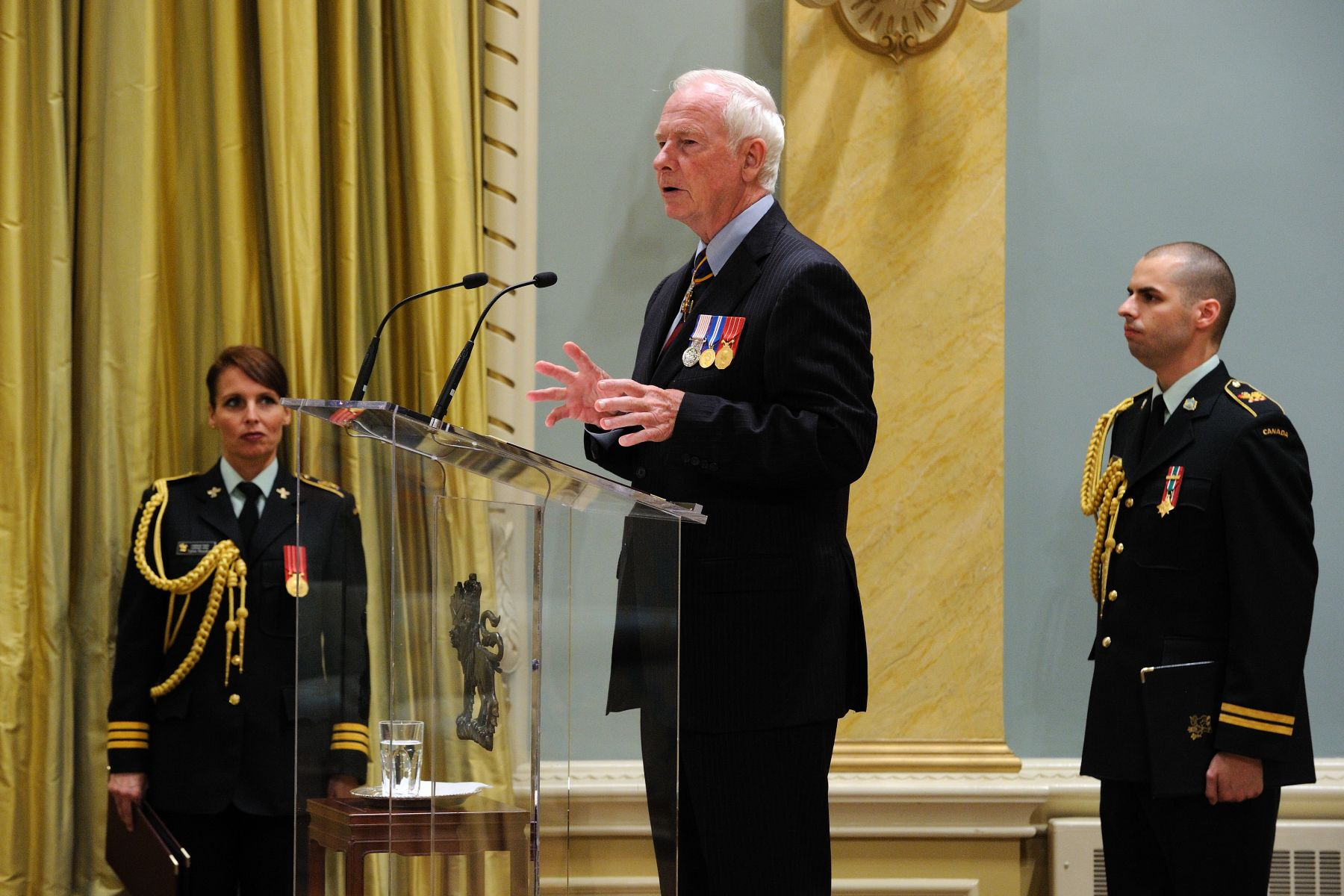 "The Governor General addressed members of the Canadian Forces and their families on this special occasion: ""One of the very first things I requested when I first became governor general was to visit the Canadian Forces' members serving in Afghanistan as soon as possible. I am proud to be commander-in-chief, and I felt it was my responsibility to learn as much as possible from you and to experience life with the troops."""