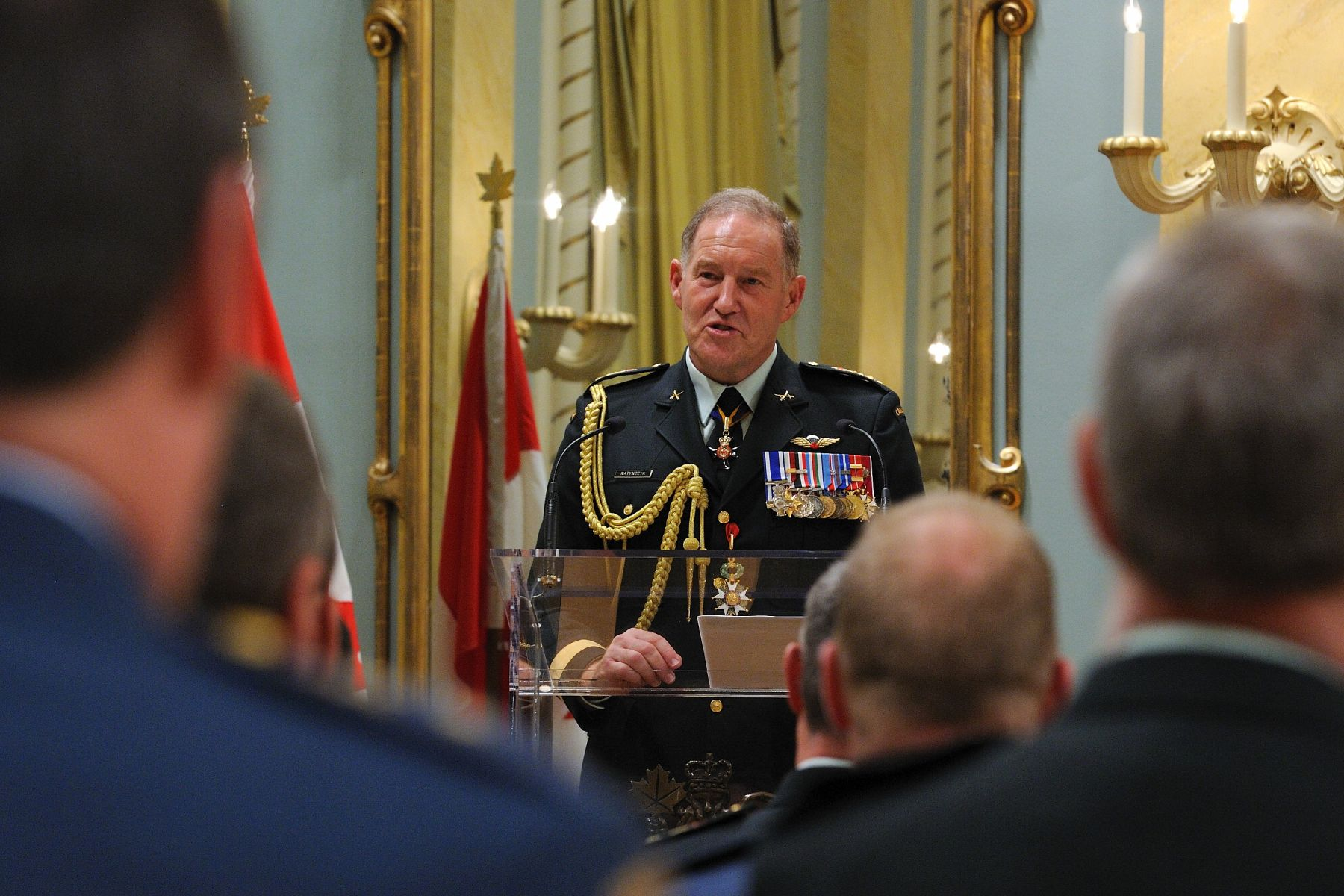 Chief of the Defence Staff General Walt Natynczyk thanked and congratulated members that were honoured on that day.