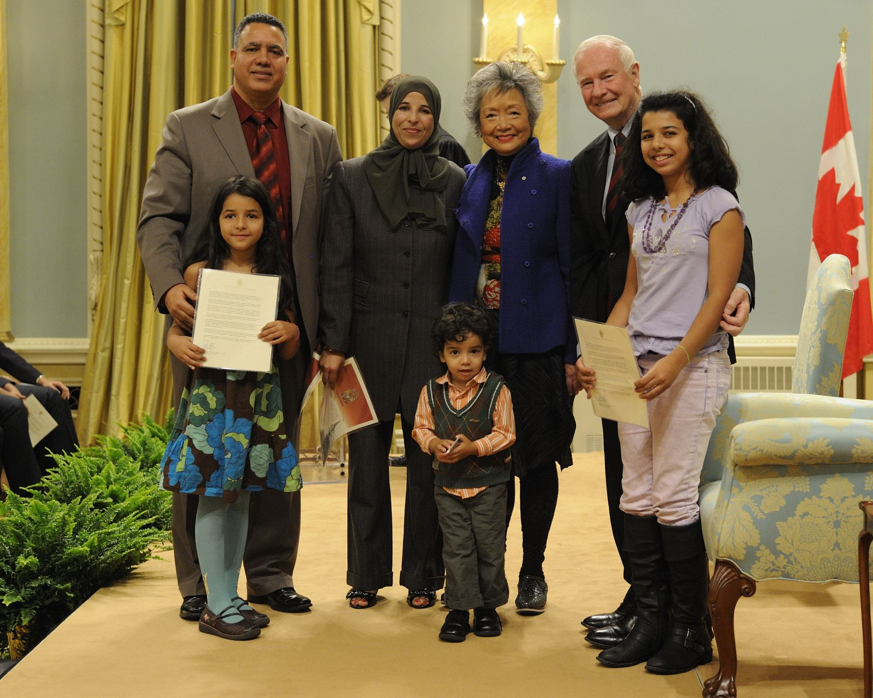 "The citizenship ceremony is a significant event in the lives of ""Canadians in waiting."" It is a goal reached after years of transition and sometimes hardship. It is a starting point to a promising future and a new way of life."