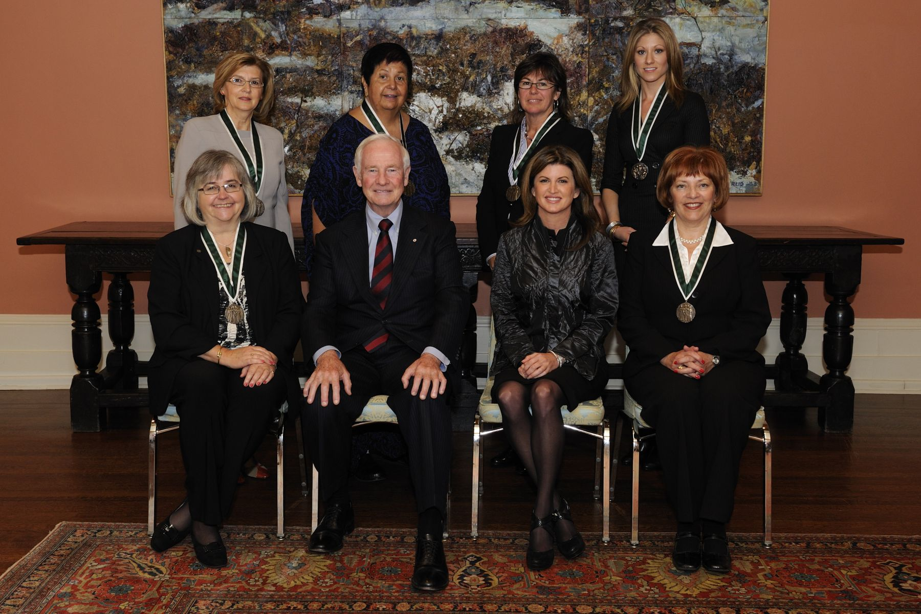 His Excellency the Right Honourable David Johnston, Governor General of Canada, presented the Governor General's Awards in commemoration of the Persons Case to six laureates during a ceremony at Rideau Hall.