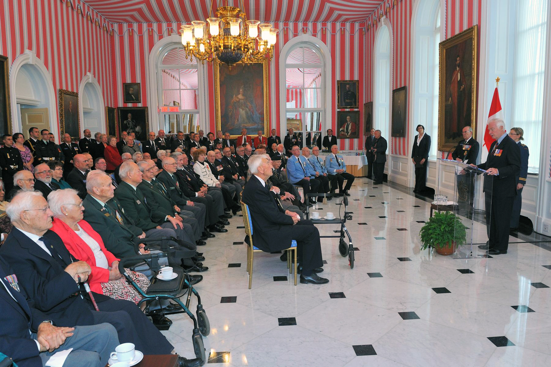 On October 26, 2011, the 2011 National Poppy Campaign was launched at Rideau Hall.