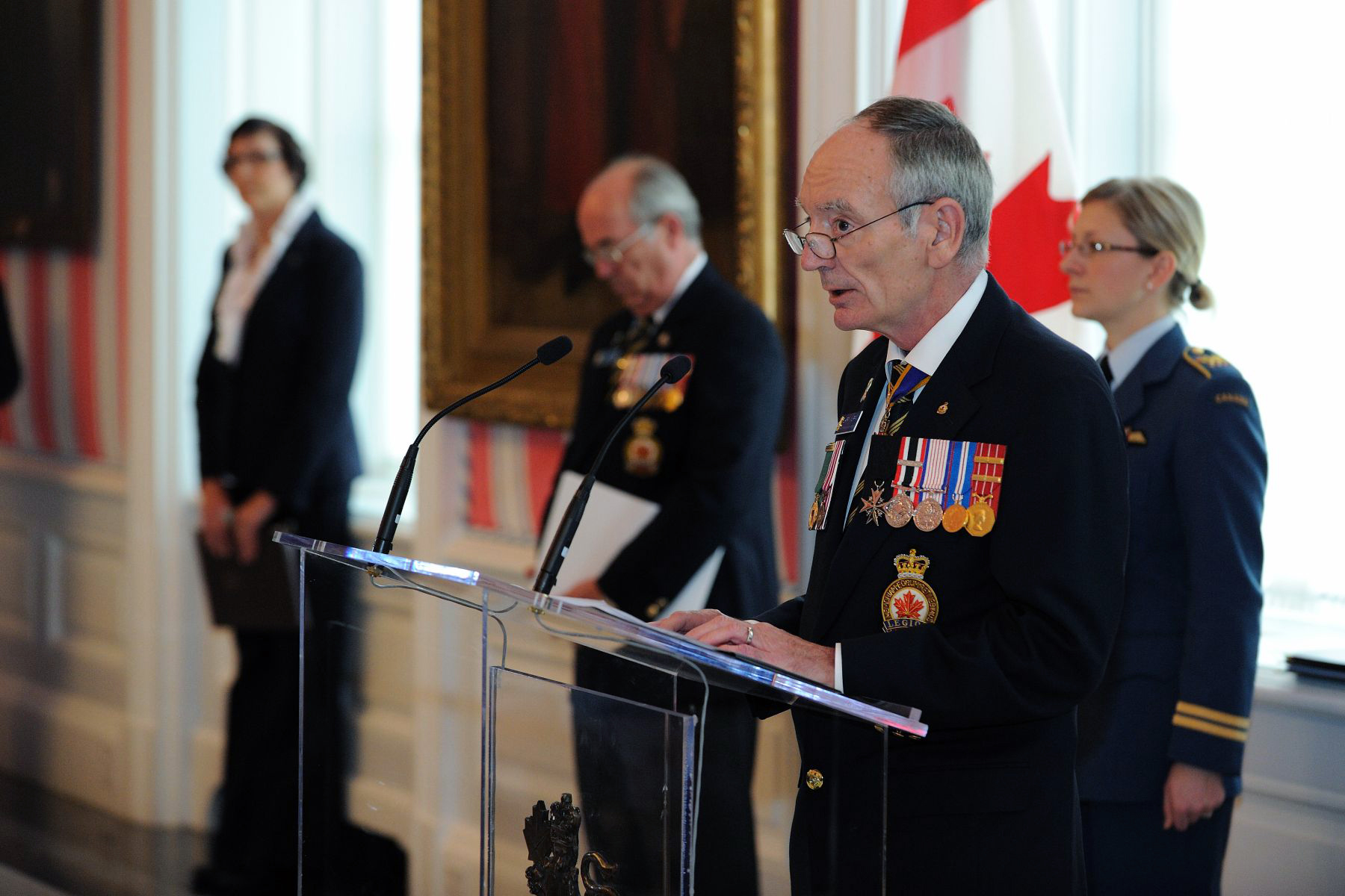 Vice-Admiral (Retired) Larry Murray, grand president of The Royal Canadian Legion, delivered an address on this occasion.
