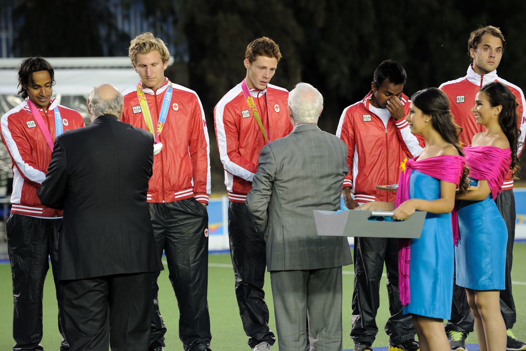 His Excellency had the honour of presenting Team Canada members with the silver medal.