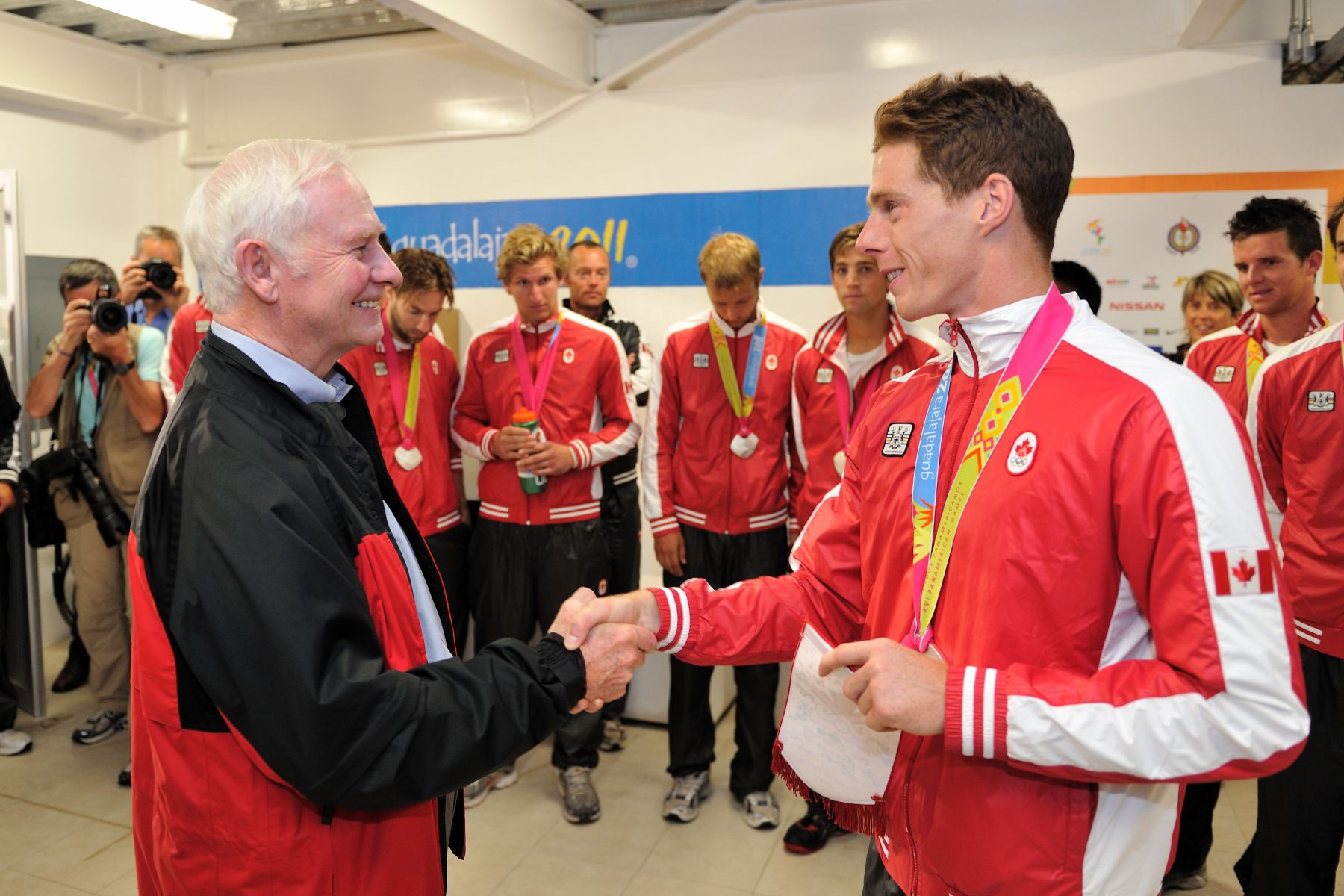 After the match, the Governor General had the opportunity to meet with Team Canada members and congratulate them.
