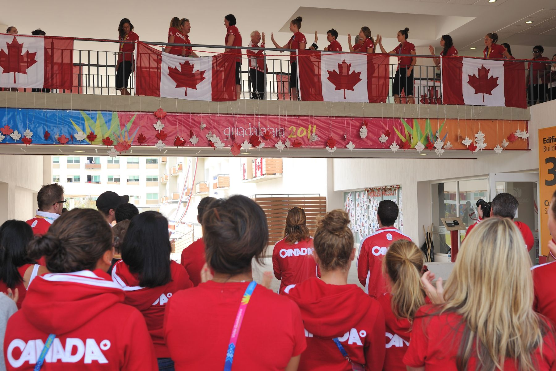 The Governor General was invited to attend Team Canada's own medal ceremony.