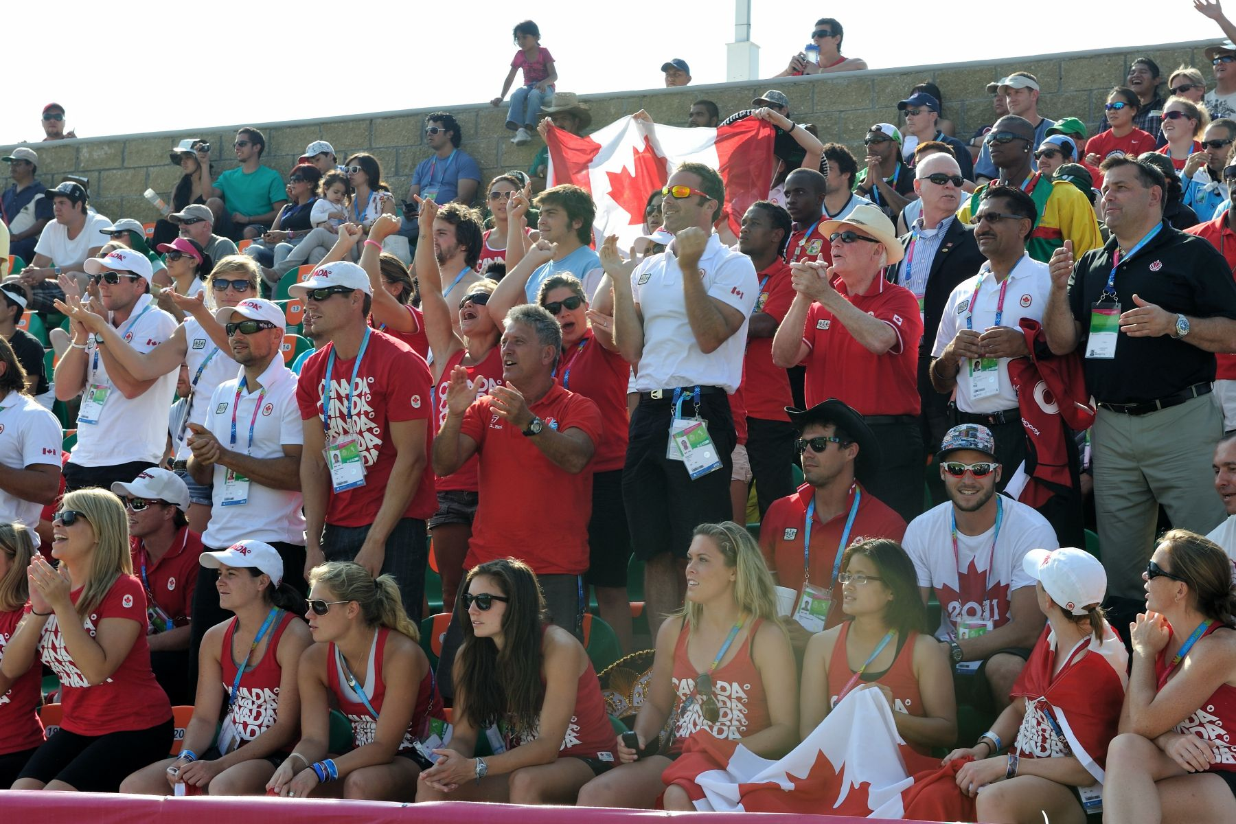 The Governor General sat with Team Canada's family, friends and athletes to cheer on Canada in winning the gold medal.
