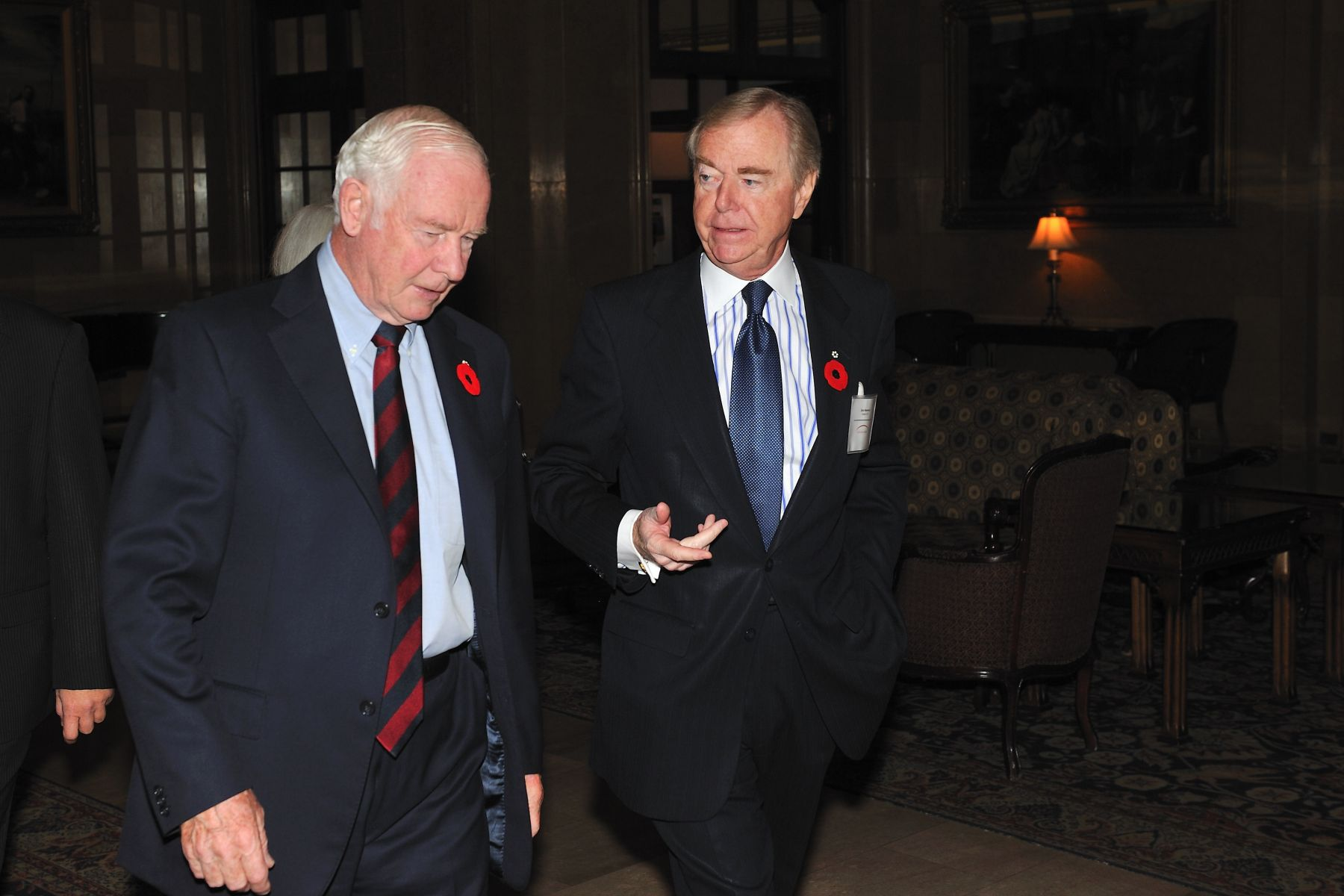 On November 2, 2011, the Governor General delivered the opening remarks at The Canada-U.S. Partnership: Enhancing the Innovation Ecosystem conference, in Ottawa. Mr. Don Newman, Canada 2020 Chair, welcomed His Excellency upon his arrival.