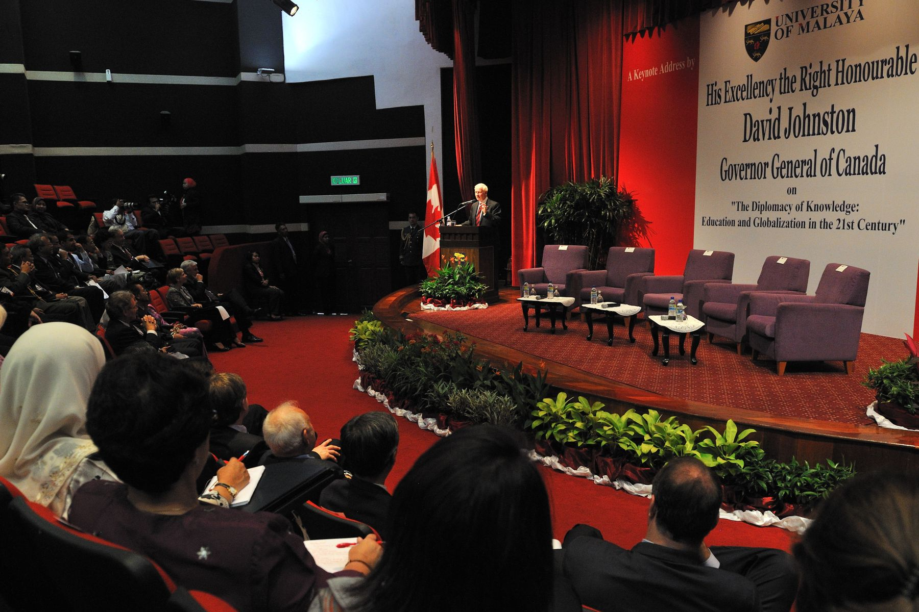 "His Excellency gave these final words as part of his keynote address at the University of Malaya: ""Here in Malaysia, you have such wonderful teachers, as well as a rich history of higher education. I was delighted to learn about the great and exciting strides you have made in recent times in learning and in fostering diversity and multiculturalism. These are some of the key ingredients to success in today's world. I applaud your hard work and dedication."""