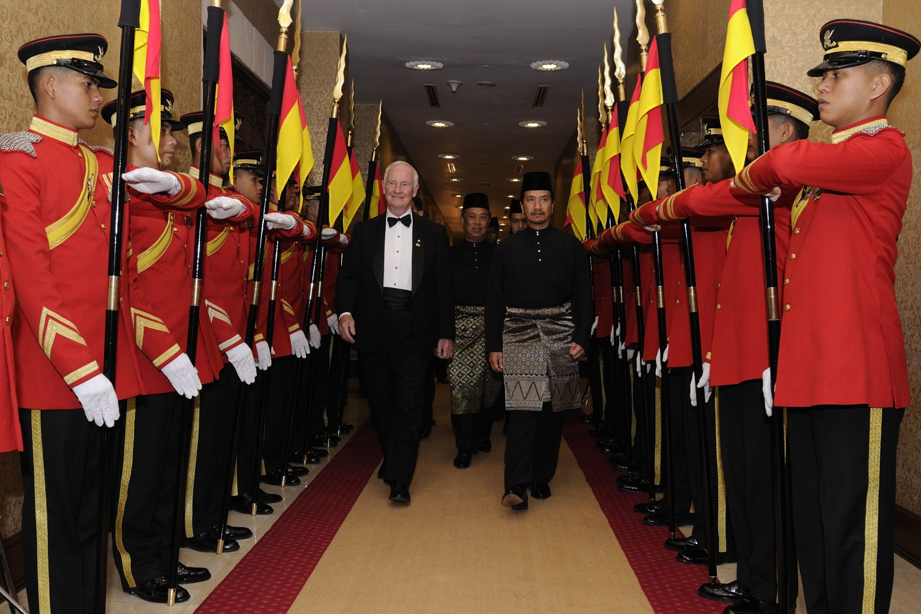 His Majesty The Yang di-Pertuan Agong, King of Malaysia, hosted a State banquet in honour of the Governor General's visit to Malaysia.