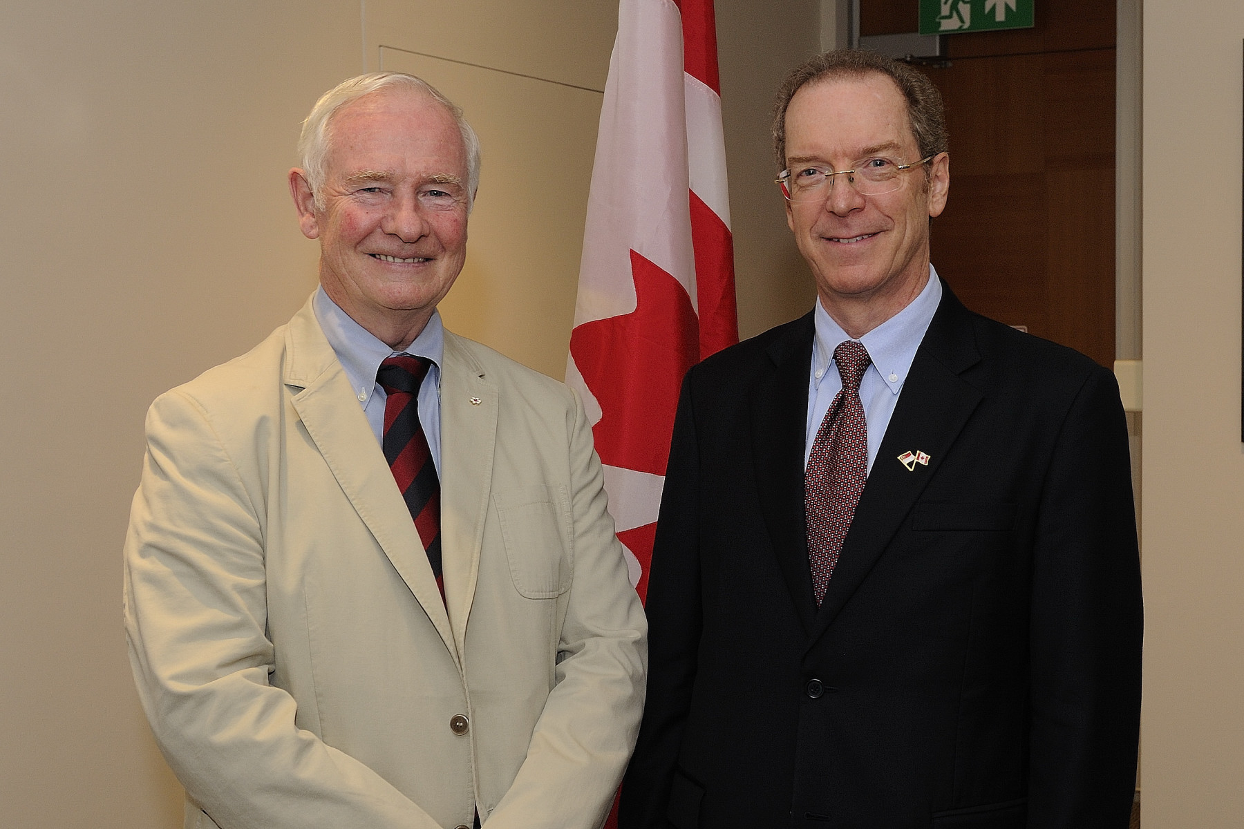 His Excellency met with David Sevigny, High Commissioner of Canada to Singapore.