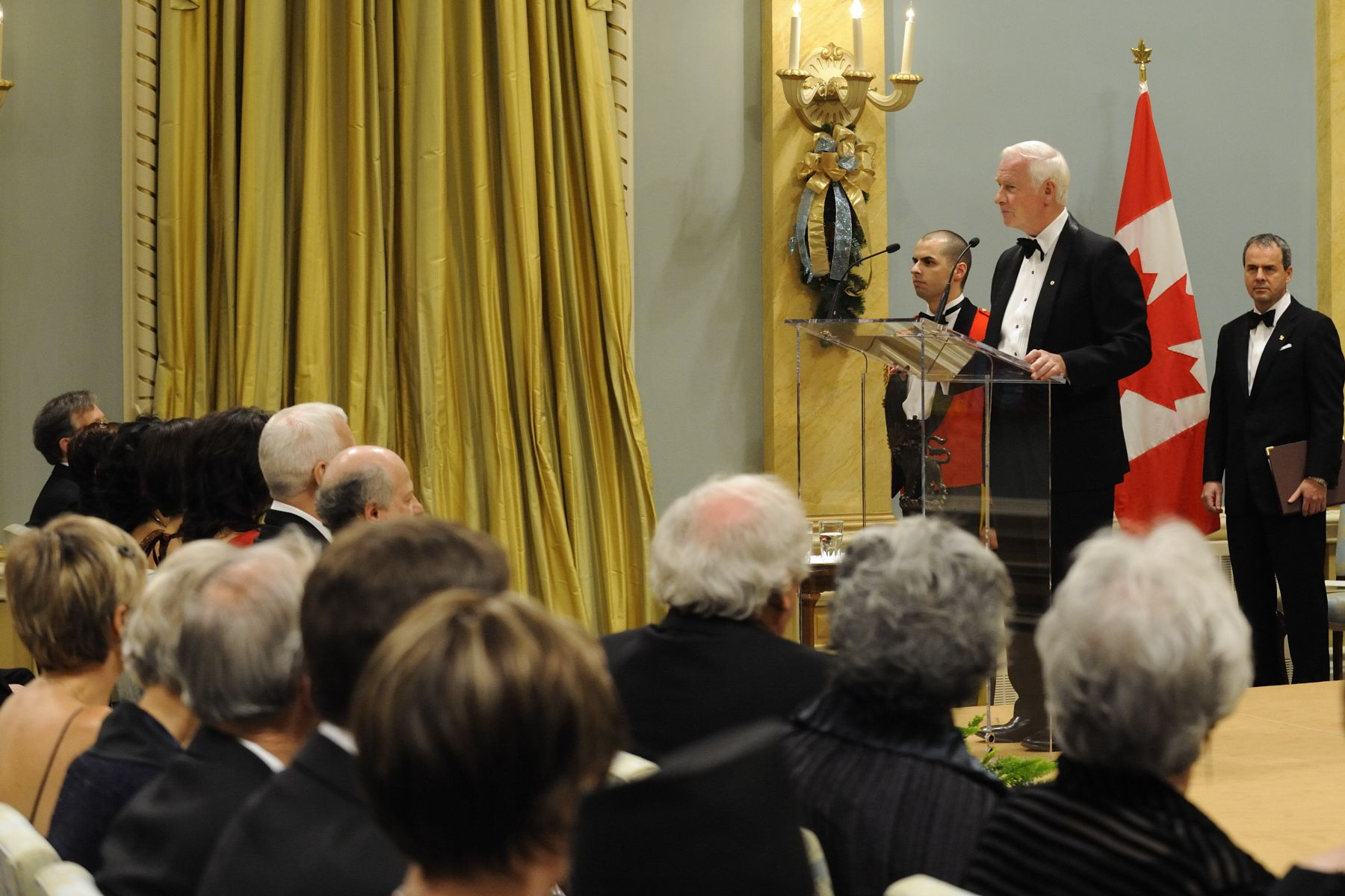 "During the award ceremony the Governor General offered the following words: ""On behalf of all Canadians, I offer my sincere thanks—to all recipients of this award, past and present, to the former governors general and their spouses who have lent their support to the literary arts, and to the Canada Council for its dedication to fostering excellence in this country."""