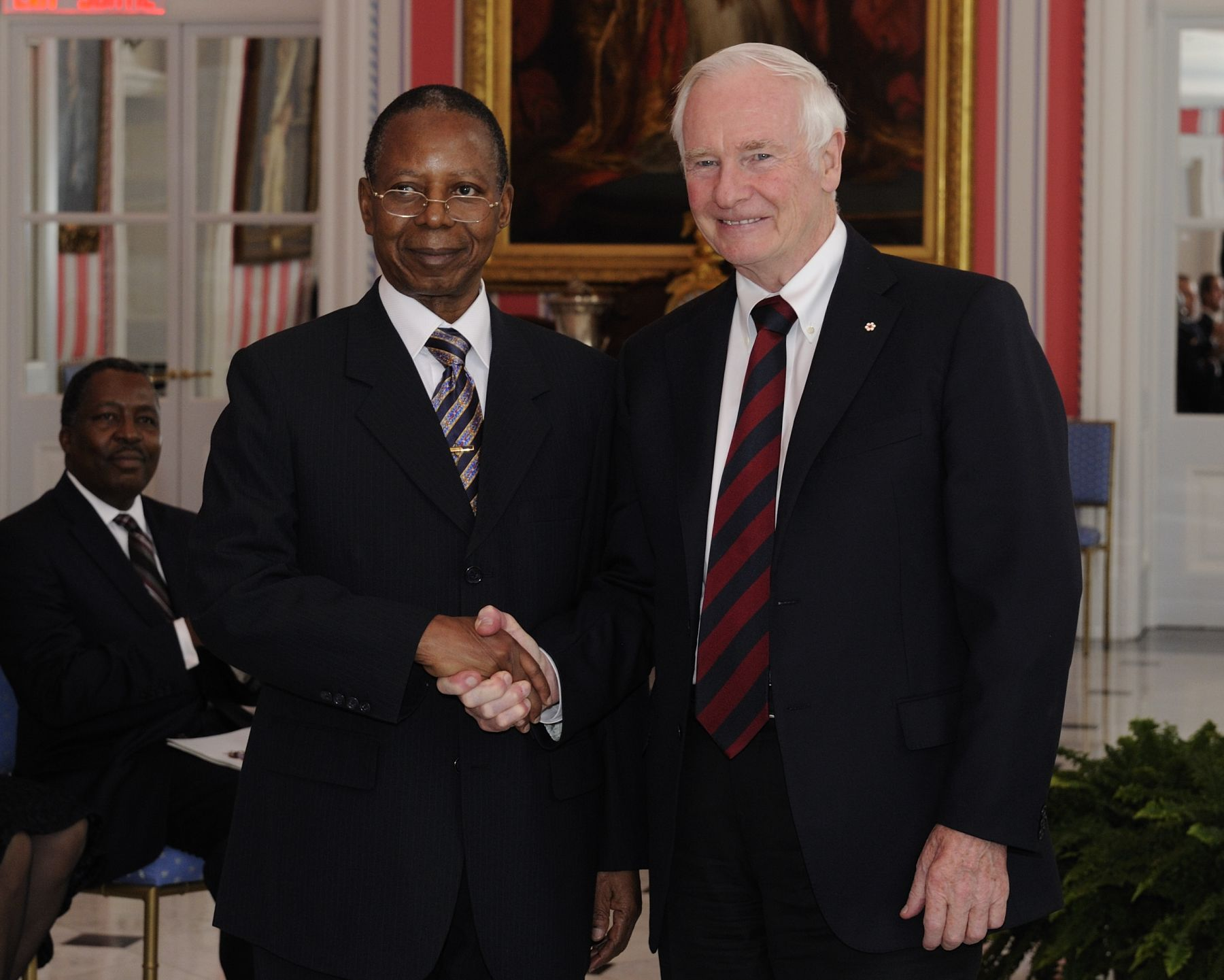 On December 1st, 2011, the presentation of credentials of three new heads of mission took place at Rideau Hall.