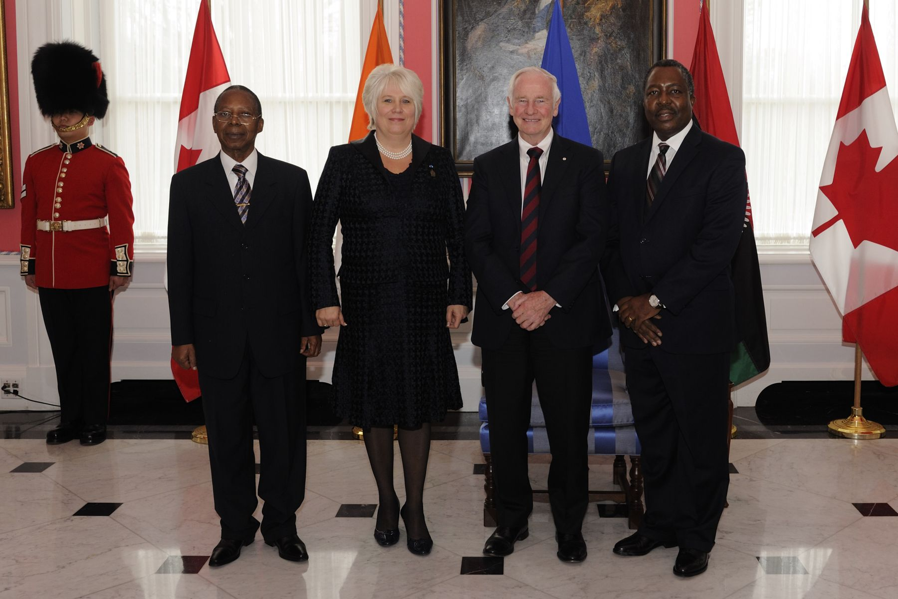 """One of my great privileges as governor general is to welcome foreign heads of mission to Canada,"" said His Excellency. ""It is always an honour to take part in these occasions, because diplomacy plays a key role in building the smarter, more caring world to which we aspire."""