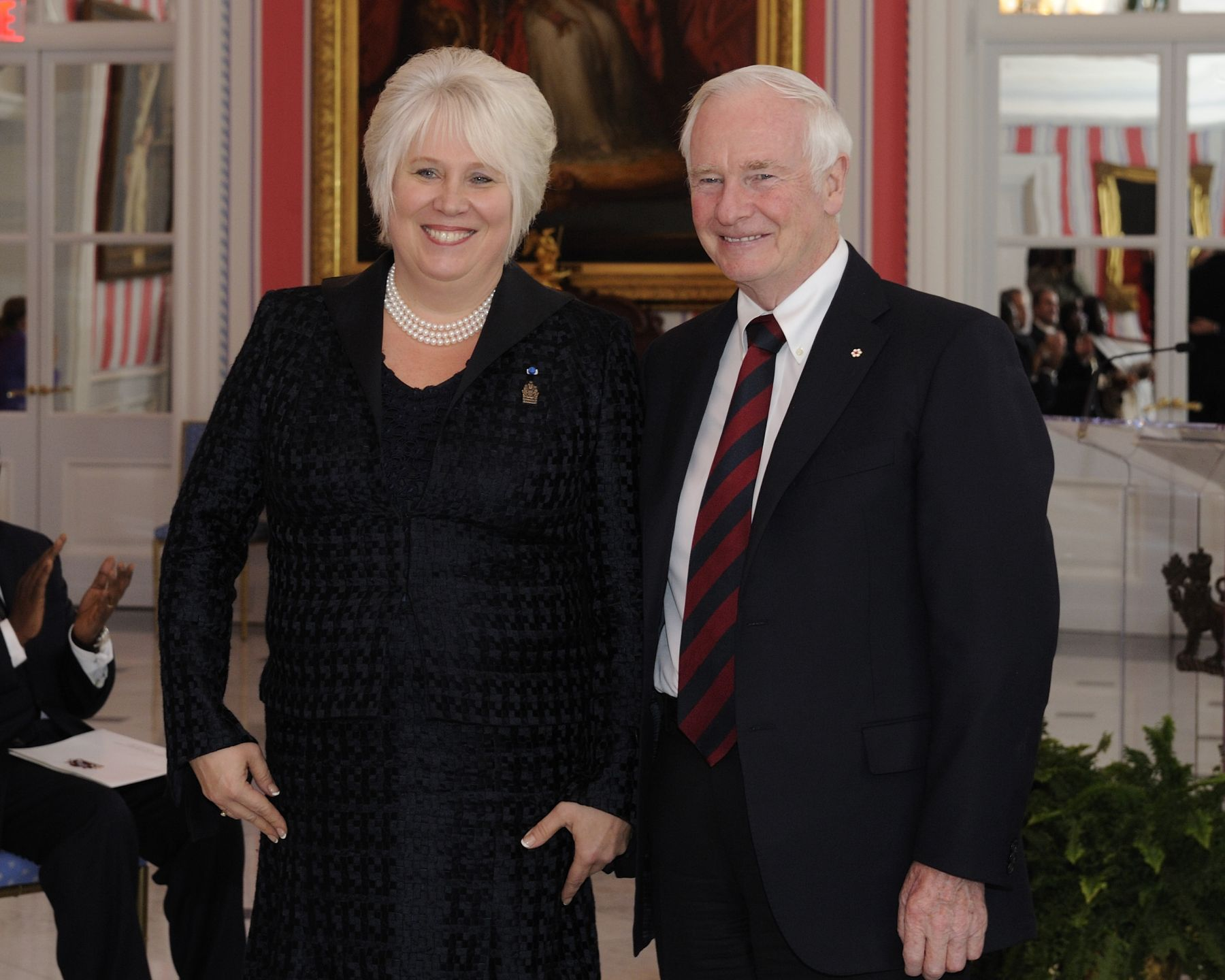 The Governor General received the credentials of Her Excellency Marina Kaljurand, Ambassador-designate of the Republic of Estonia.