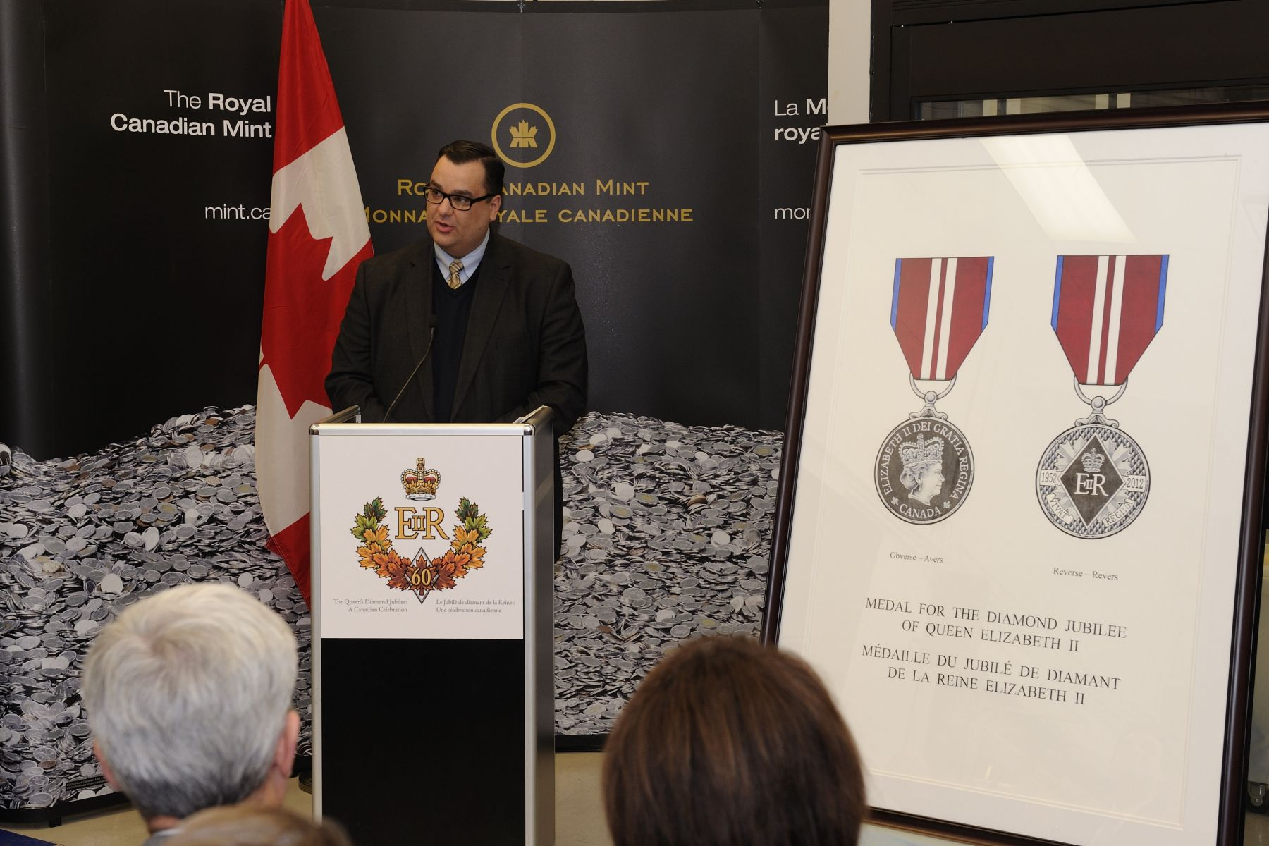 The Honourable James Moore, Minister of Canadian Heritage and Official Languages, announced Diamond Jubilee Program activities and initiatives for the upcoming celebrations in 2012.