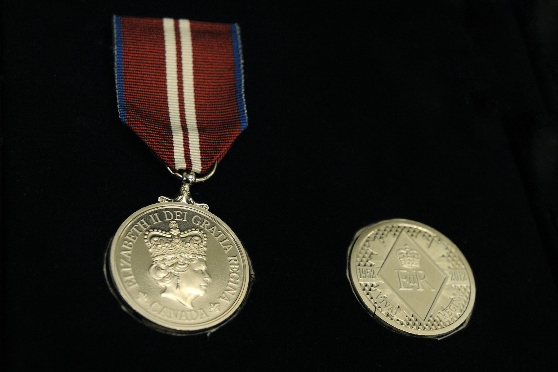 First announced on February 3, 2011, this commemorative medal is a tangible way for Canada to honour Her Majesty for her service to this country, and to celebrate significant contributions and achievements by Canadians.